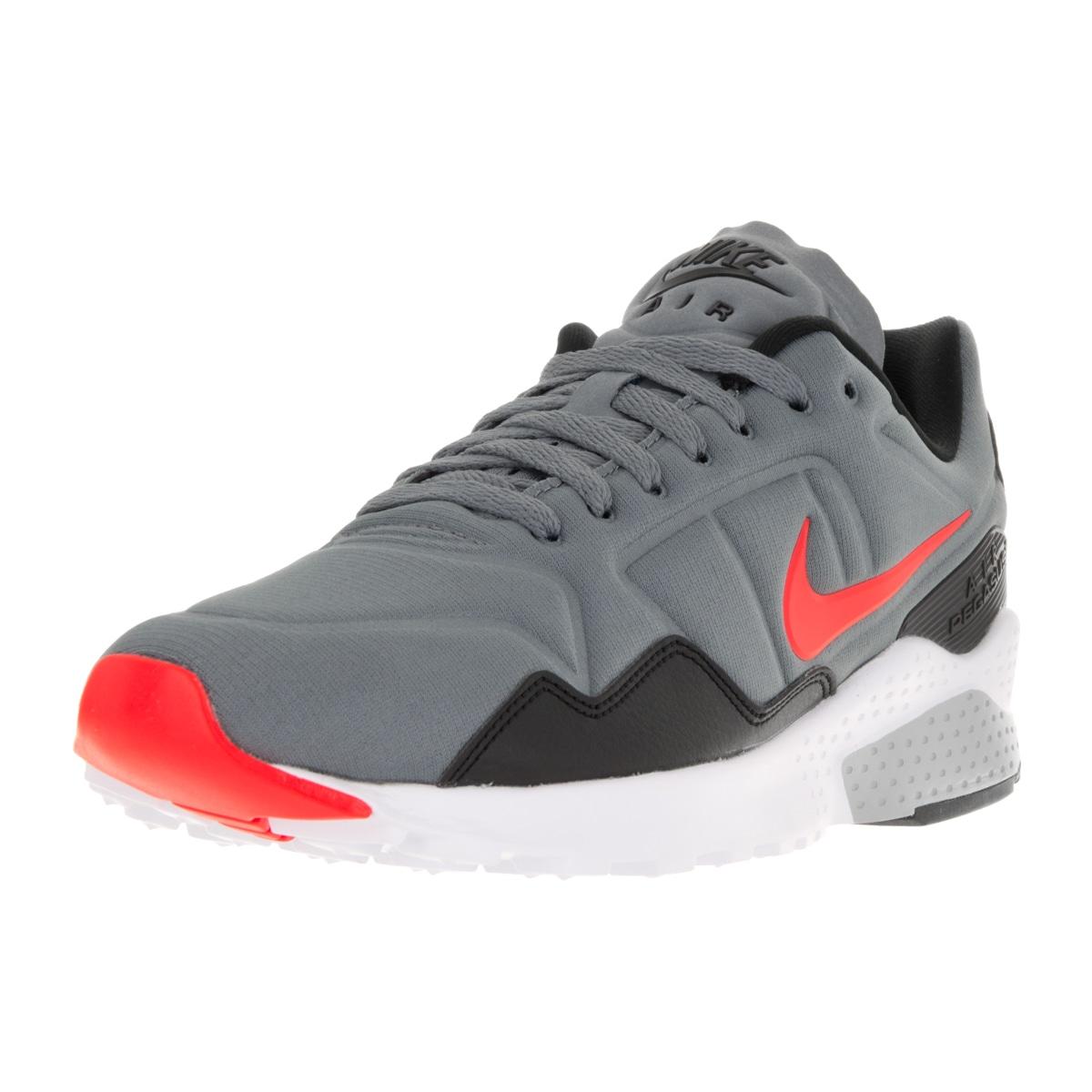 10f930557f9 Nike Men s Air Zoom Pegasus 92 Cool Grey Bright Crimson Black Running Shoe