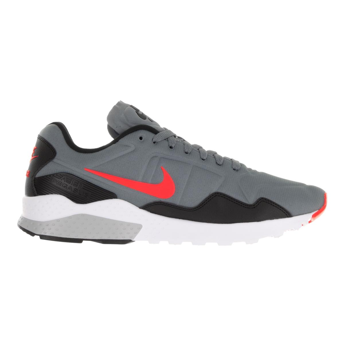 cde2bb278bf4 Shop Nike Men s Air Zoom Pegasus 92 Cool Grey Bright Crimson Black Running  Shoe - Free Shipping Today - Overstock - 13404730