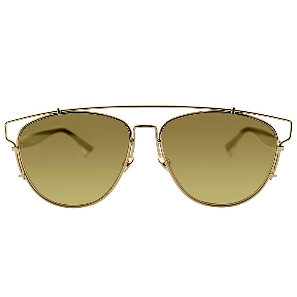 d267fc9c0b7 Shop Dior Dior Technologic RHL 83 Gold Black Metal Fashion Gold Mirror Lens  Sunglasses - Free Shipping Today - Overstock - 13427796