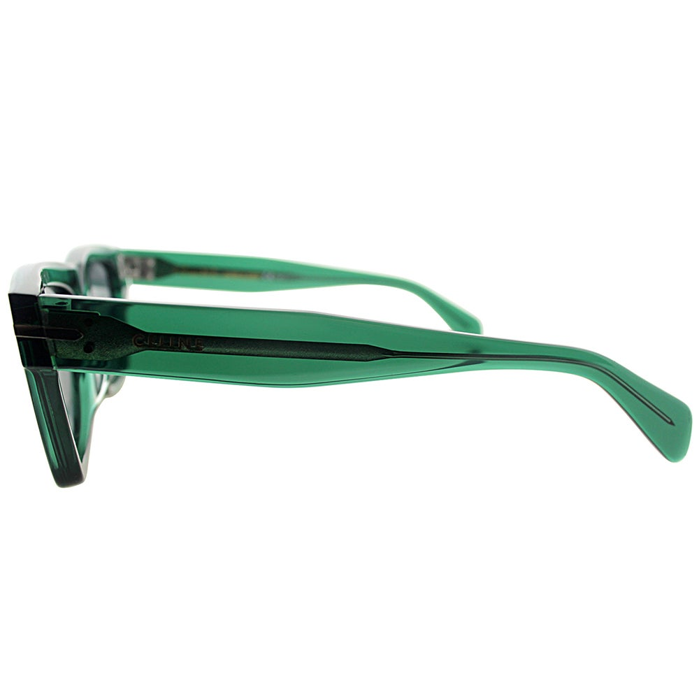 52b71fa933f Shop Celine CL 41046 F 4W7 Transparent Green Plastic Square Grey Lens  Sunglasses - Free Shipping Today - Overstock - 13430156