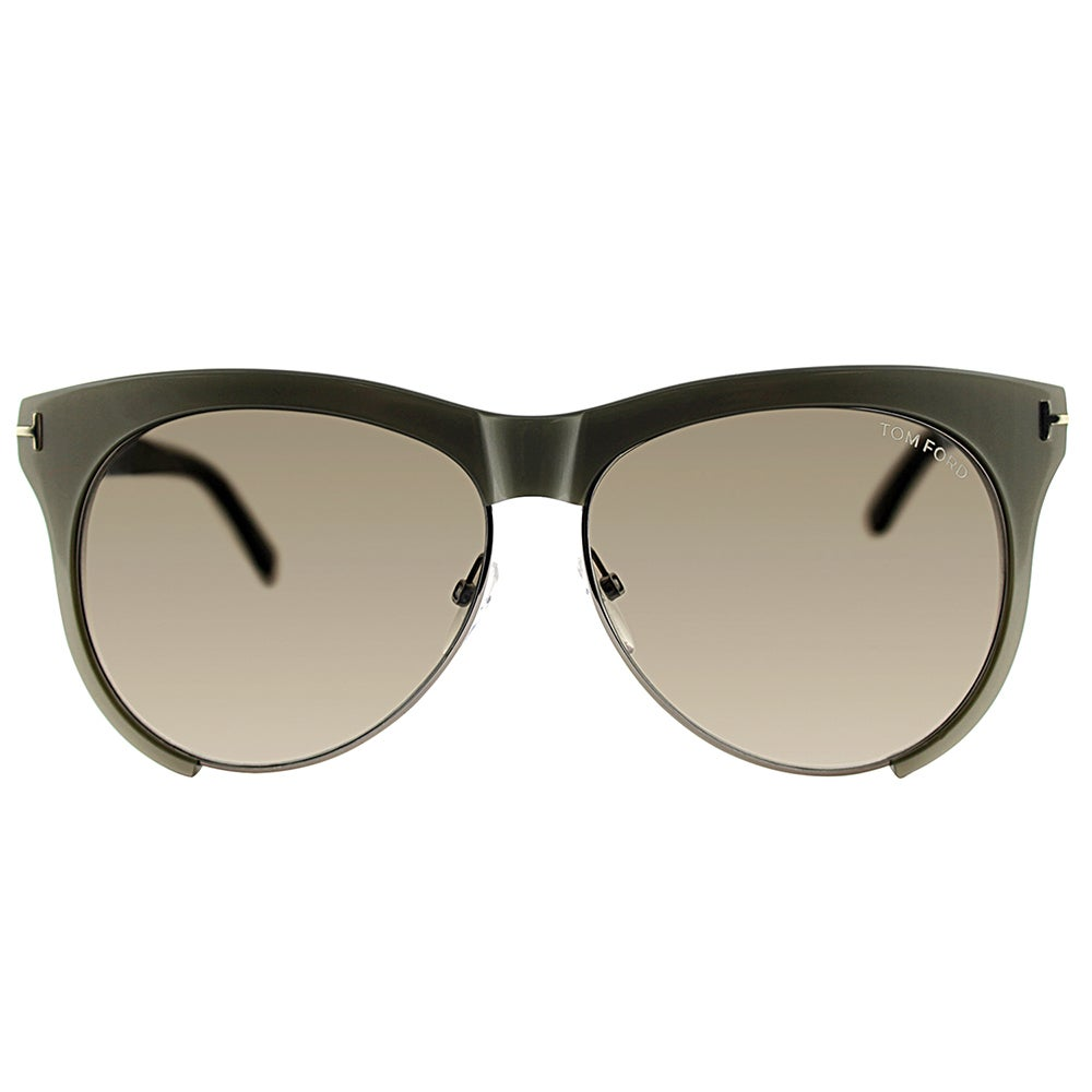 446e681971 Shop Tom Ford TF 365 38B Leona Grey Plastic Square Grey Gradient Lens  Sunglasses - Ships To Canada - Overstock - 13430287