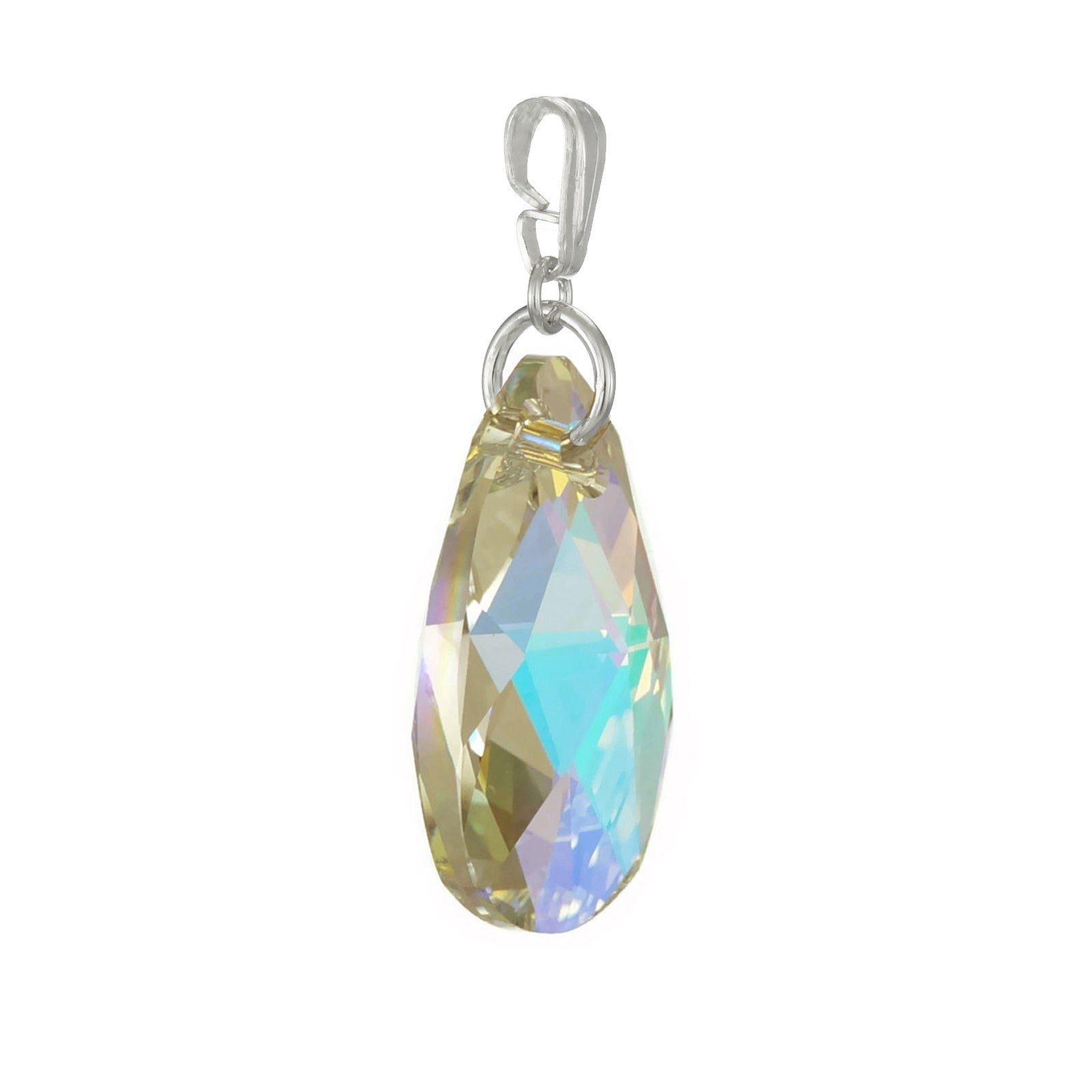 daf1def21 Shop Handmade Jewelry by Dawn Aurora Borealis Swarovski Crystal Pear  Sterling Silver Pendant (USA) - On Sale - Free Shipping On Orders Over $45  - Overstock ...