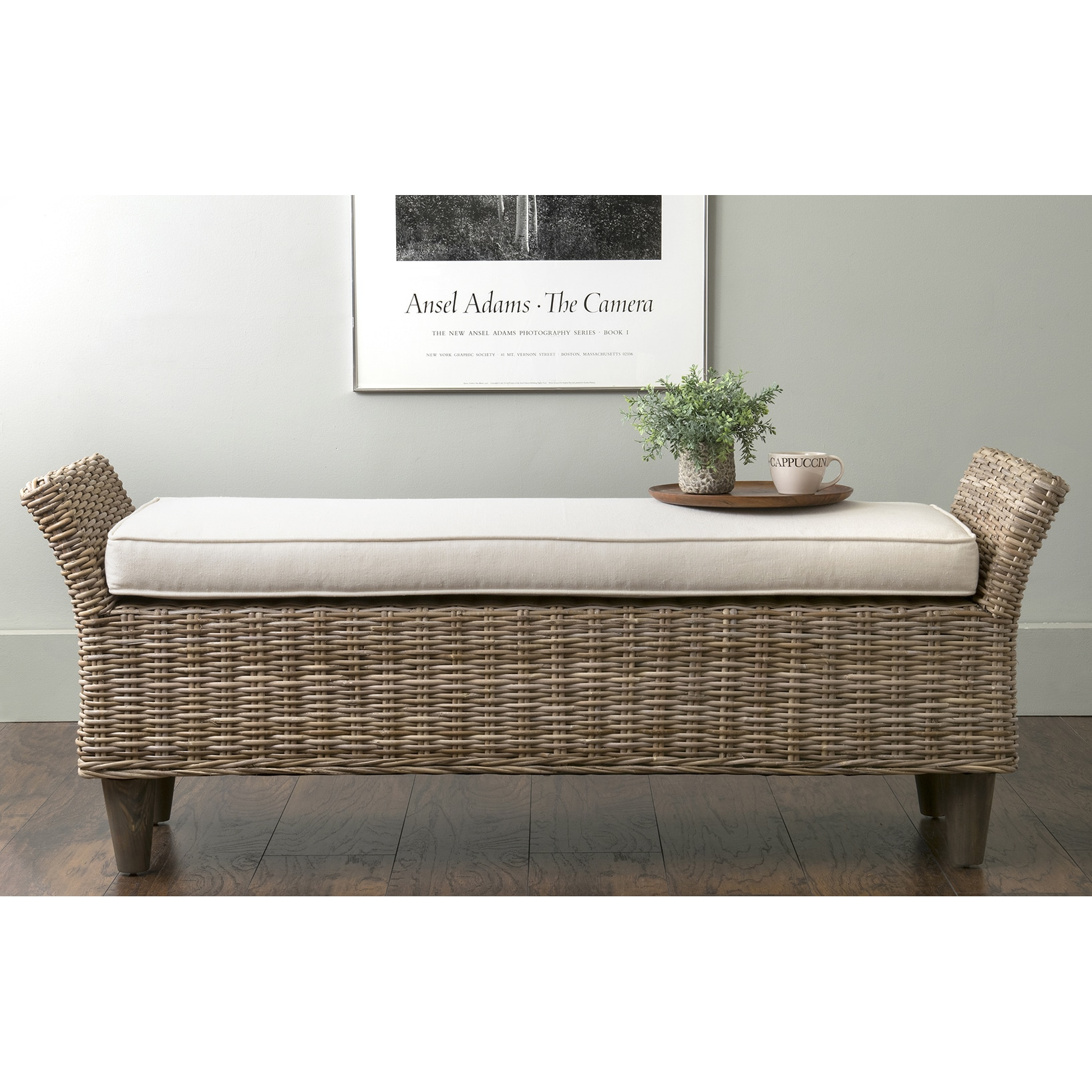 Shop East At Mains Collins Grey Abaca Bench