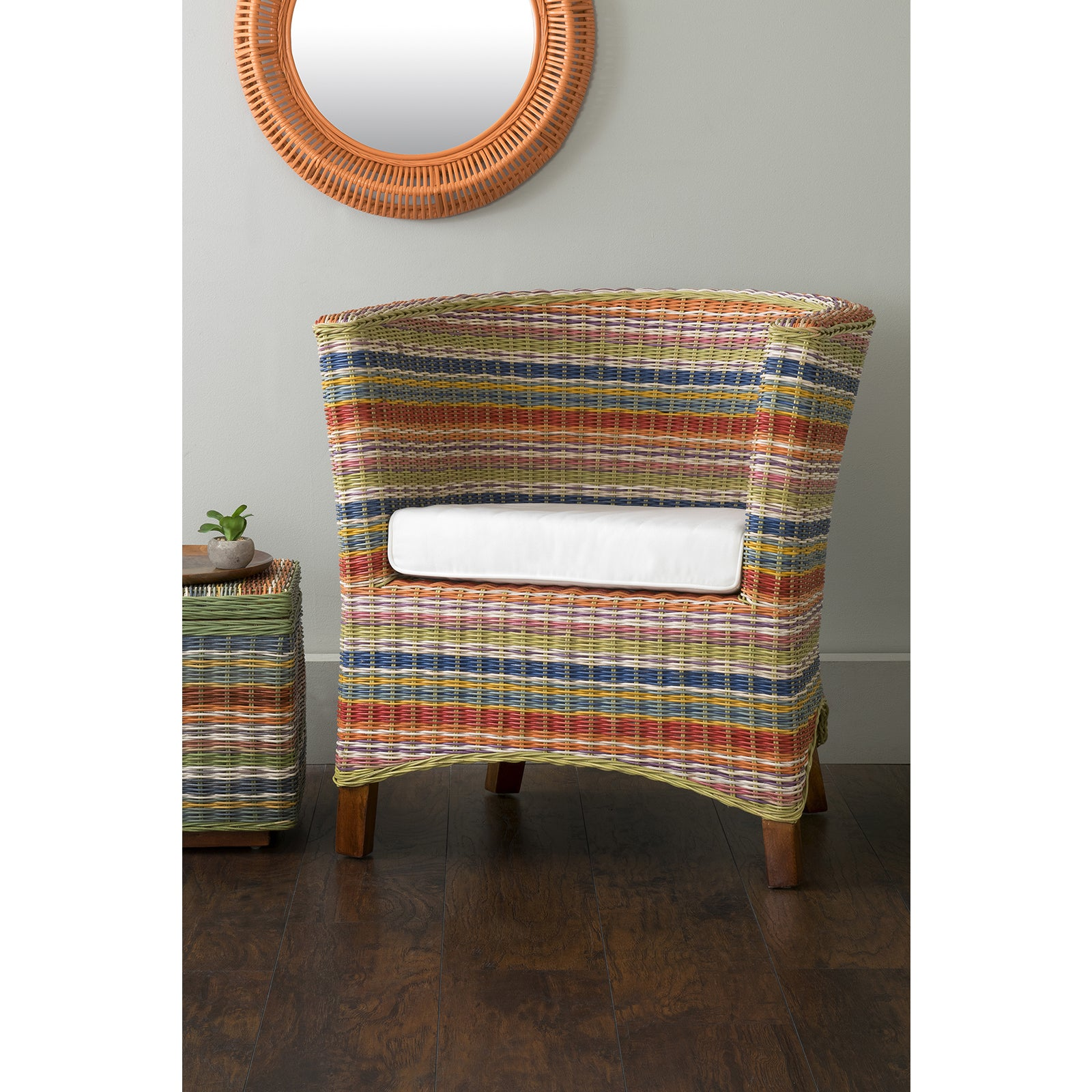 Shop East At Mainu0027s Highland Multi Colored Rattan Occasional Chair   Free  Shipping Today   Overstock.com   13430904