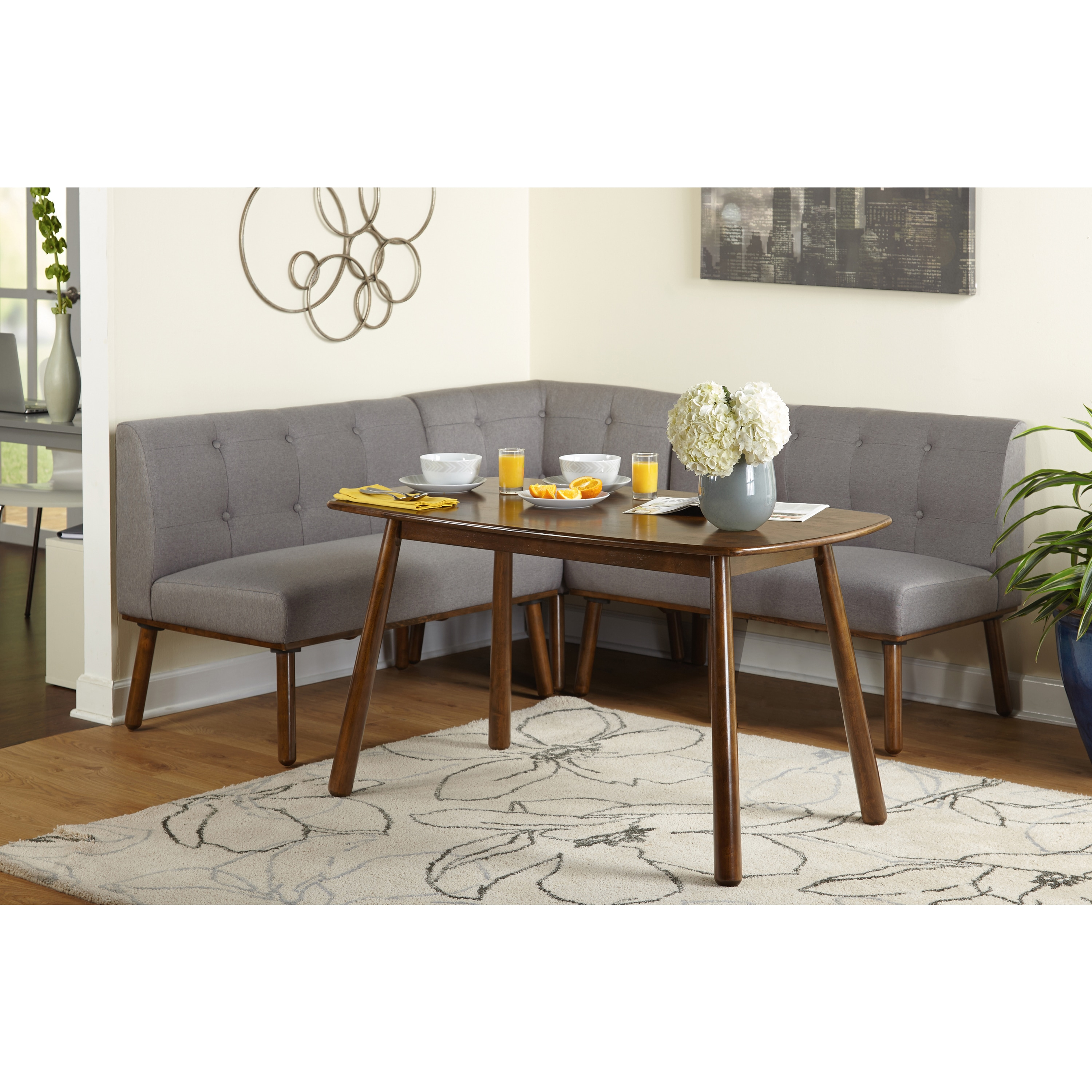 Wonderful Simple Living 4 Piece Playmate Nook Dining Set   Free Shipping Today    Overstock   20123257