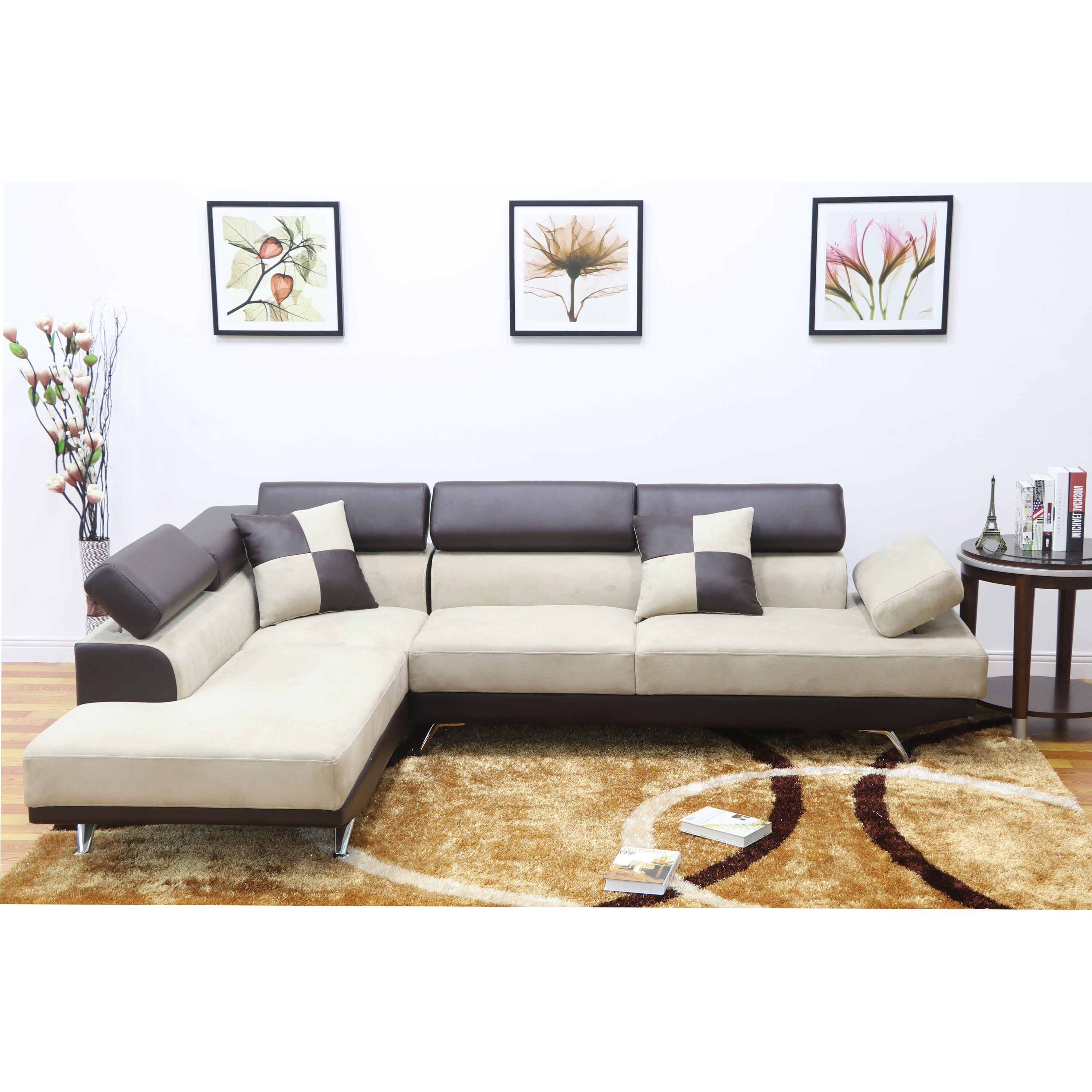 Shop PDAE Whitley Modern Left-Facing Chaise Sectional Sofa - Free ...