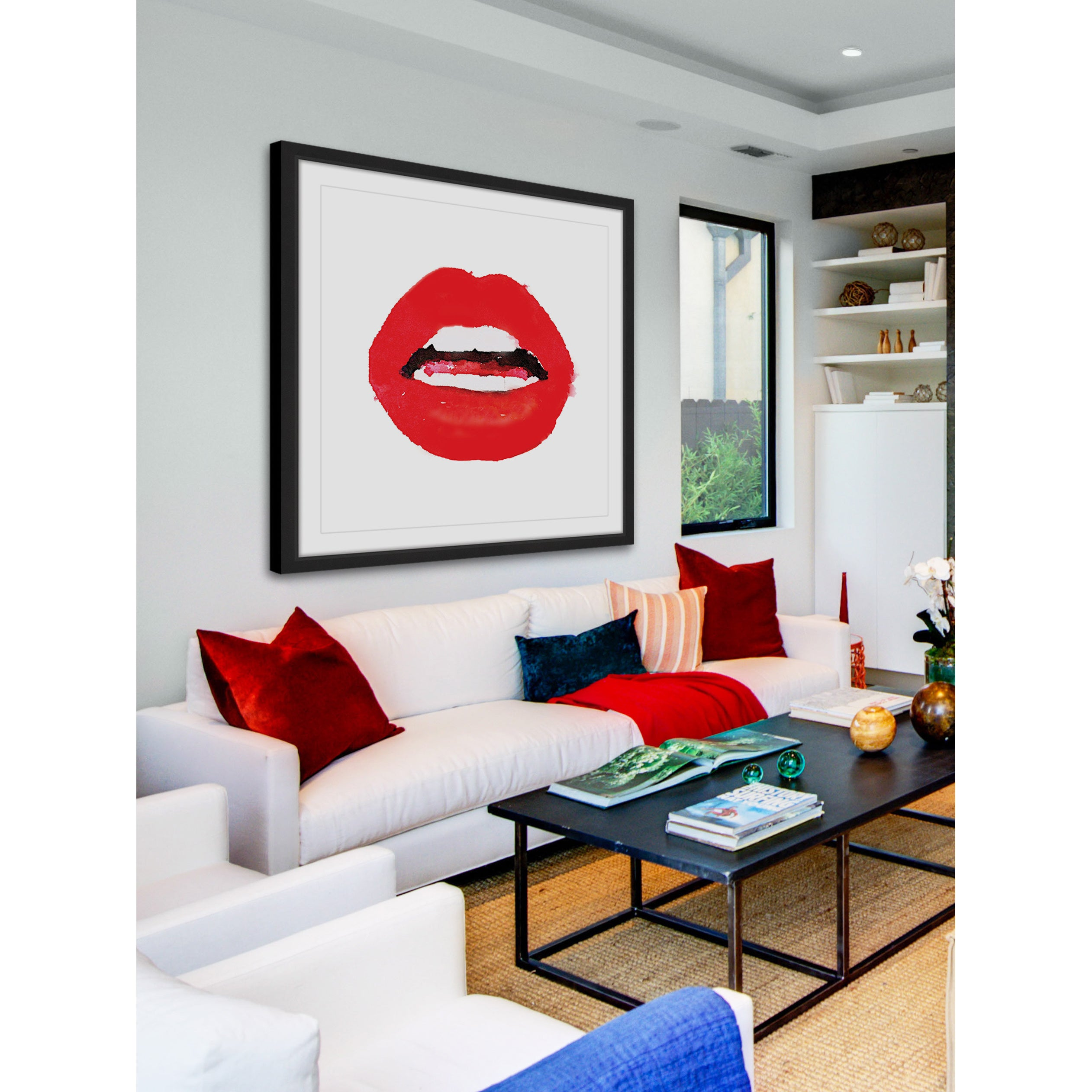Shop Marmont Hill - \'Lips Colors Red\' by Amanda Greenwood Framed ...
