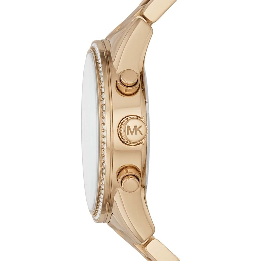 316507a7b Shop Michael Kors Women's MK6356 Ritz Chronograph Gold Dial Gold-Tone  Stainless Steel Bracelet Watch - Free Shipping Today - Overstock - 13434155
