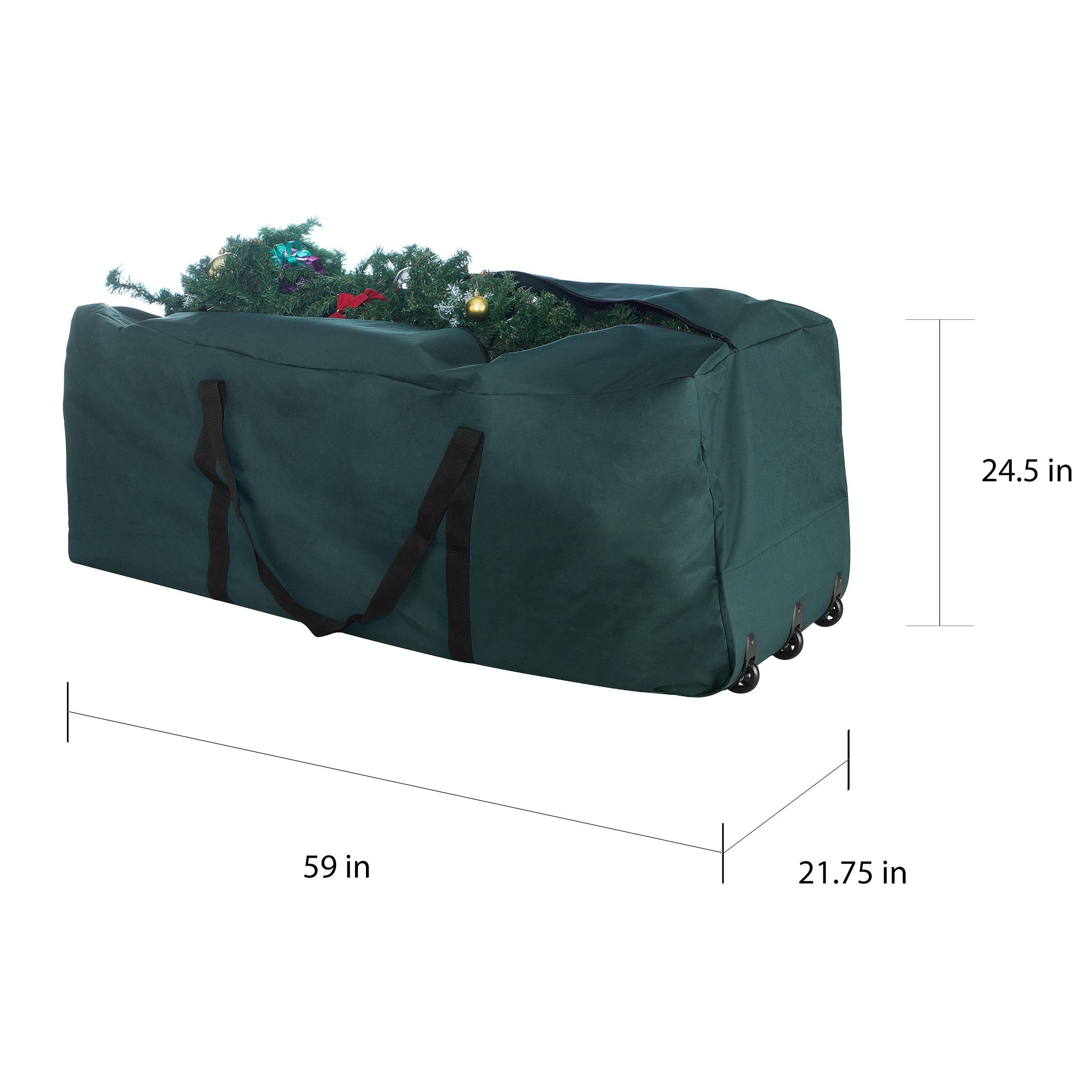 Shop Elf Stor Green Canvas Rolling Christmas Tree Storage Duffel Bag ... 11a094b95bf2a