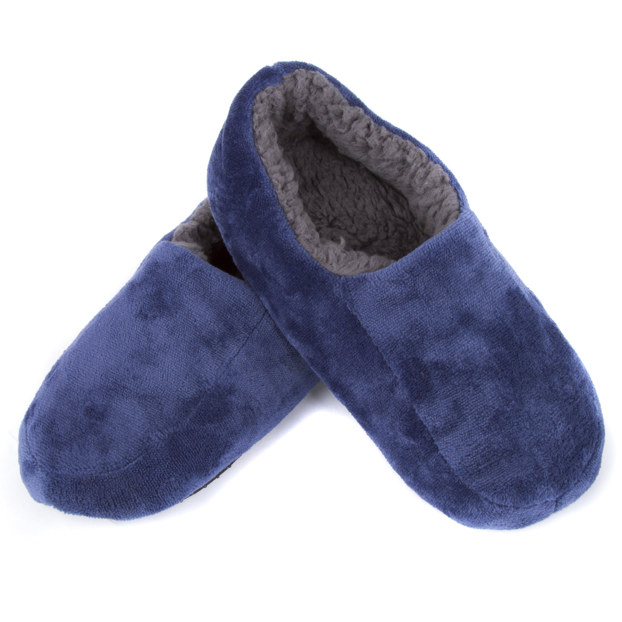 fe275e3a1445 Shop Leisureland Men s Solid Color Fleece Lined Cozy Slippers - Free  Shipping On Orders Over  45 - Overstock - 13434721