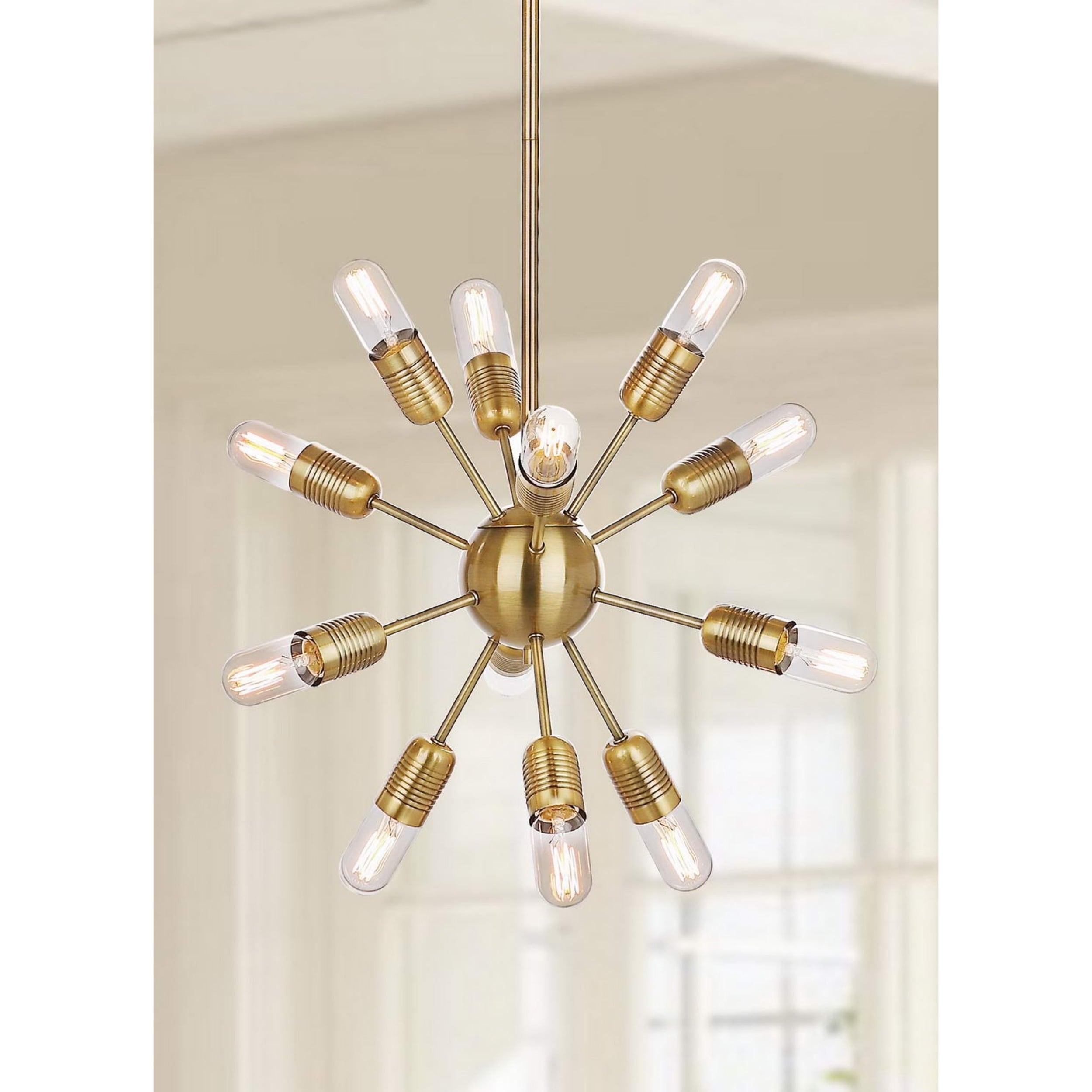 Safavieh Lighting Raging 12 light Gold 17 5 inch Edison Bulb
