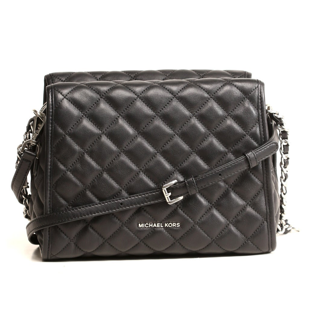 040715f74f182 Shop Michael Kors Rachel Medium Black Leather Satchel Handbag - Free  Shipping Today - Overstock - 13434970