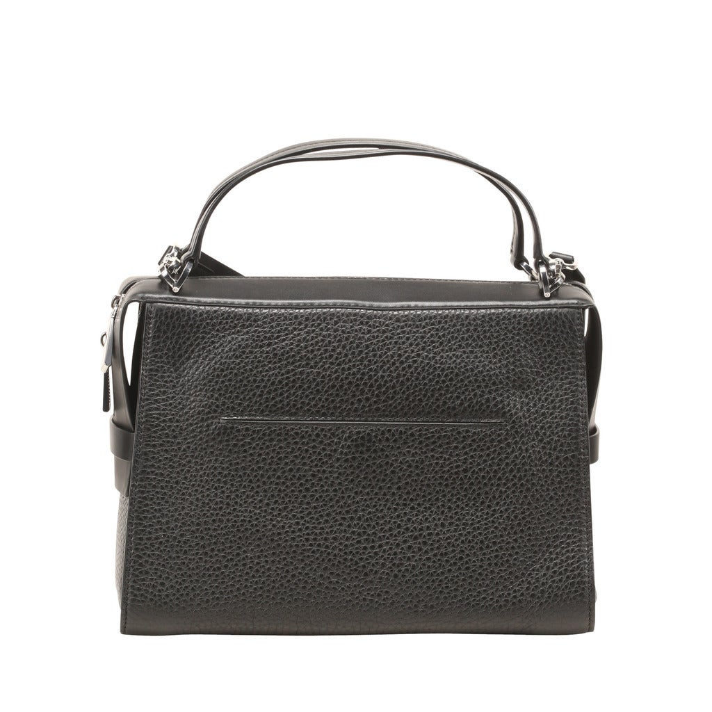 Michael Kors Ingrid Large Black Leather Satchel Handbag Free Shipping Today 13434975