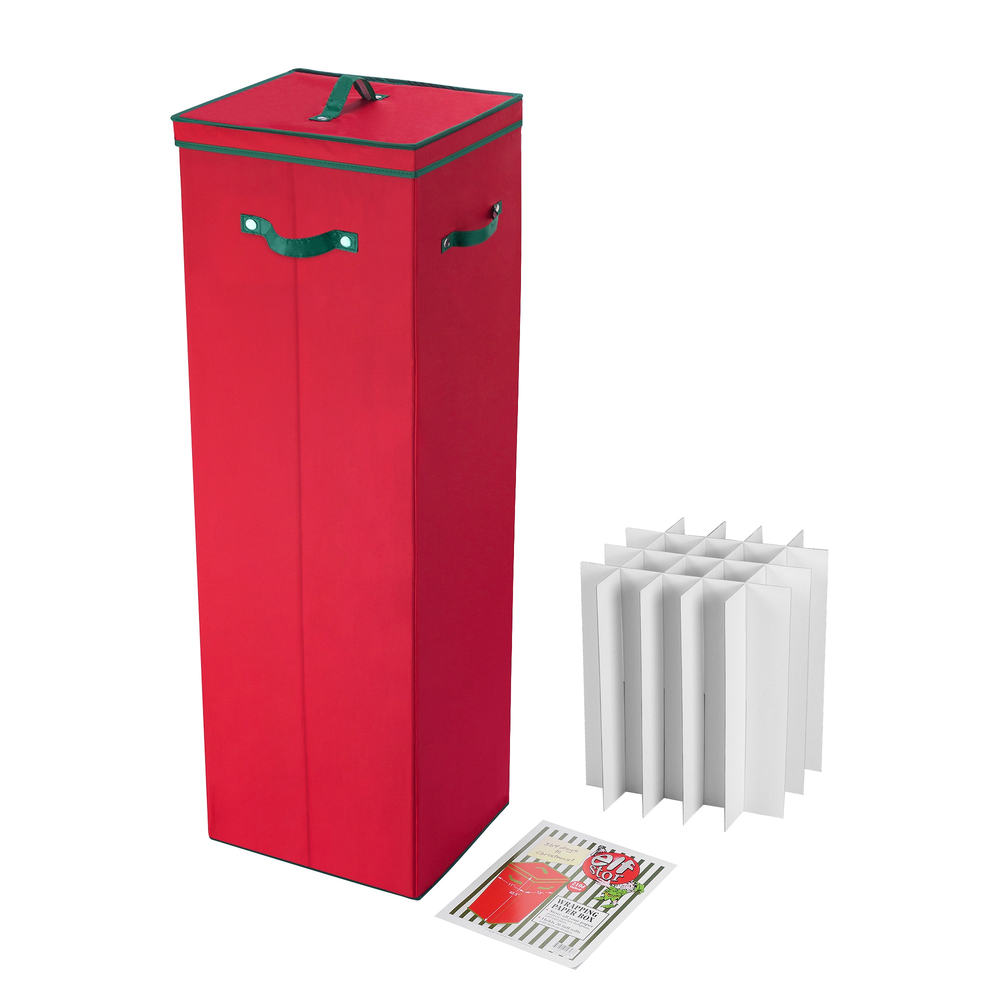 Shop Elf Stor Red 40 inch Tall Wrapping Paper Storage Box With Lid