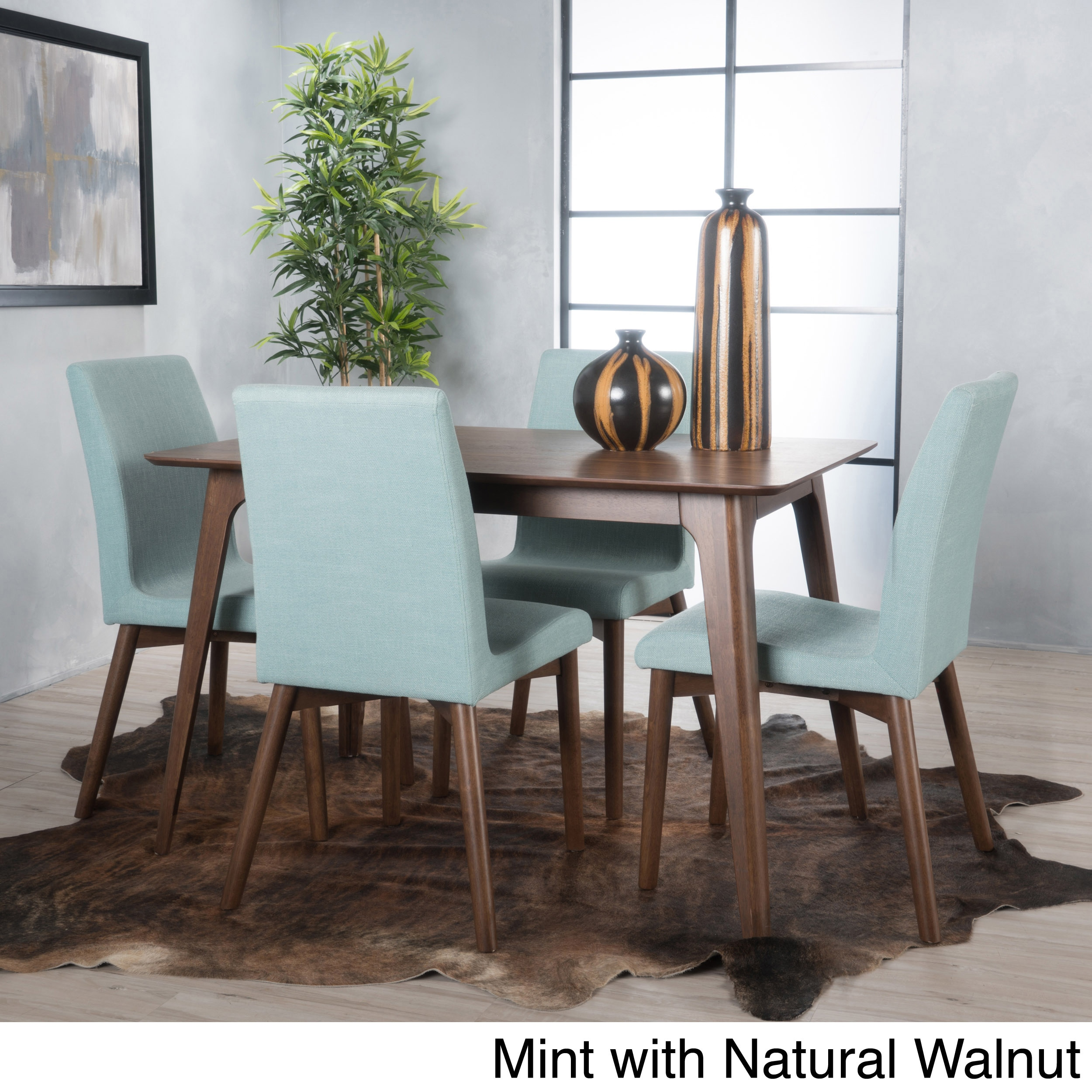 Shop Orrin 5-piece Wood Rectangular Dining Set by Christopher Knight ...