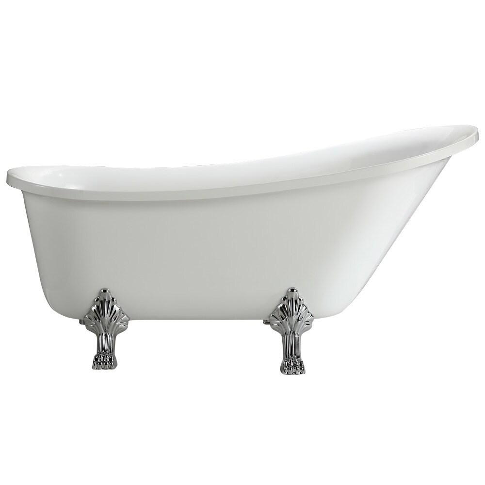 Shop Jacqueline Soaking Claw Foot Bathtub (63\