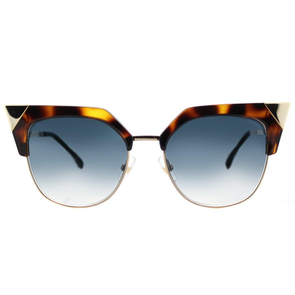1dbf04a194df Shop Fendi FF 0149 TLW Iridia Havana Gold Plastic Cat-Eye Azure Mirror  Flash Lens Sunglasses - Free Shipping Today - Overstock - 13443432
