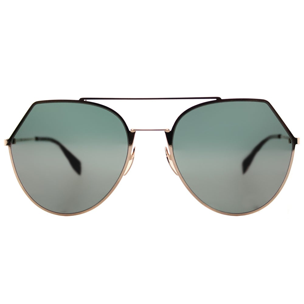 9cb7fc9655bfd Shop Fendi FF 0194 DDB Eyeline Gold Copper Metal Aviator Silver Mirror Lens  Sunglasses - Free Shipping Today - Overstock - 13443440