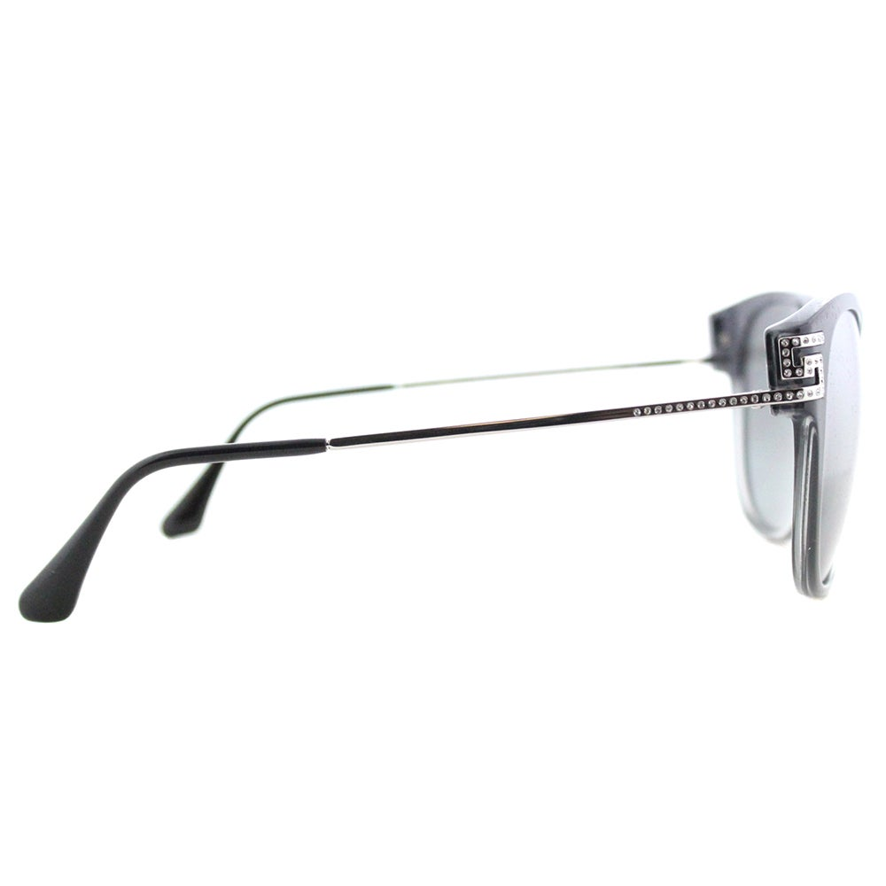 5059561de7f12 Shop Versace VE 4316 520088 Greca Rock Icons Transparent Grey Gradient  Black Plastic Cat-Eye Silver Gradient Mirrored Lens Sunglasses - Free  Shipping Today ...