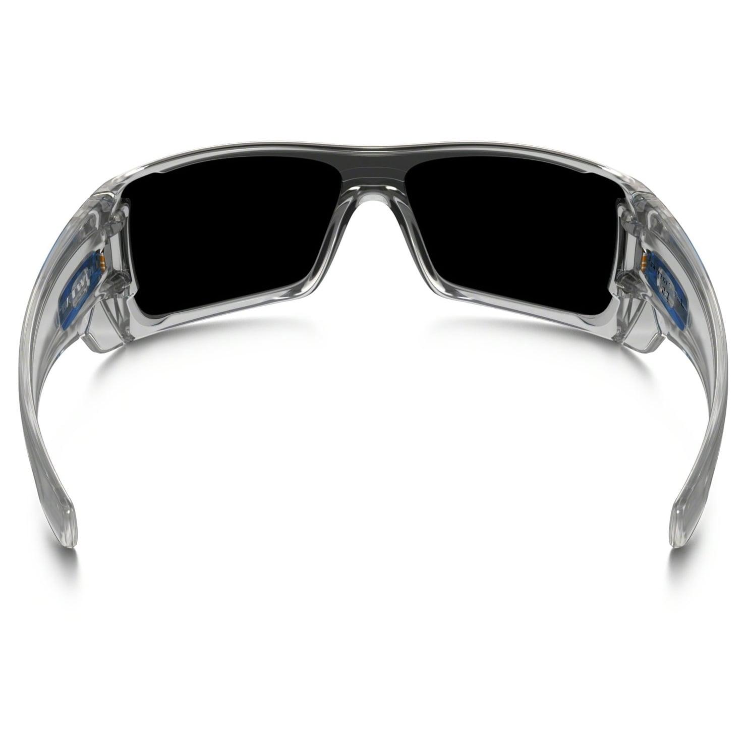 Oakley Batwolf 0OO9101910107 Men\'s Polished Clear Frame Ice Iridium ...