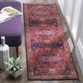 Safavieh Evoke Vintage Medallion Vibrant Fuchsia Pink/ Orange Distressed Runner (2' 2 x 7')