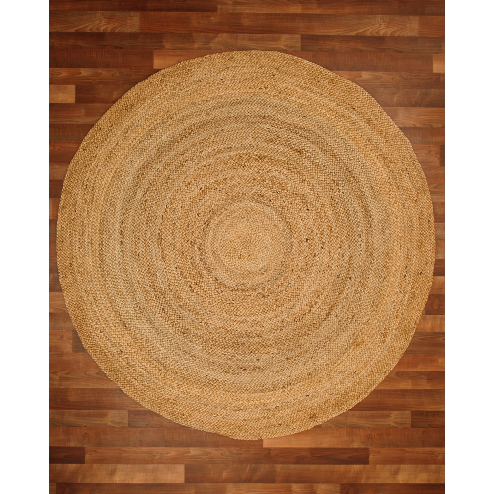 Natural Area Rugs 100 Fiber Handmade Reversible Elsinore Jute 8 Round Rug Beige X Free Shipping Today 13446257