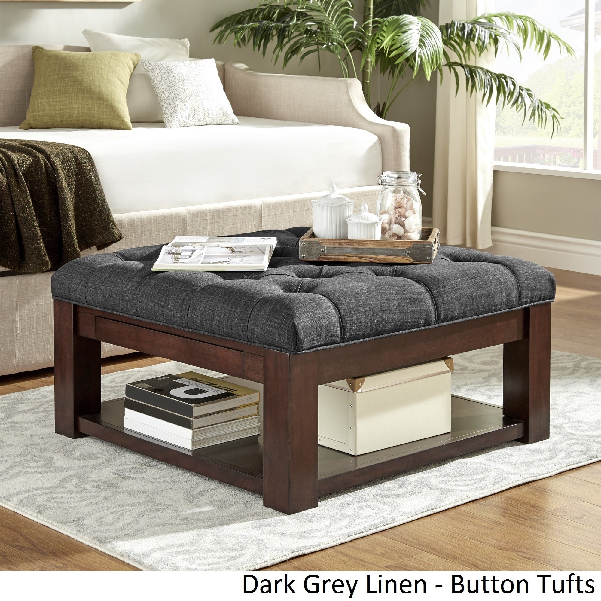 Lennon Espresso Square Storage Ottoman Coffee Table by iNSPIRE Q Classic -  Free Shipping Today - Overstock.com - 20137486