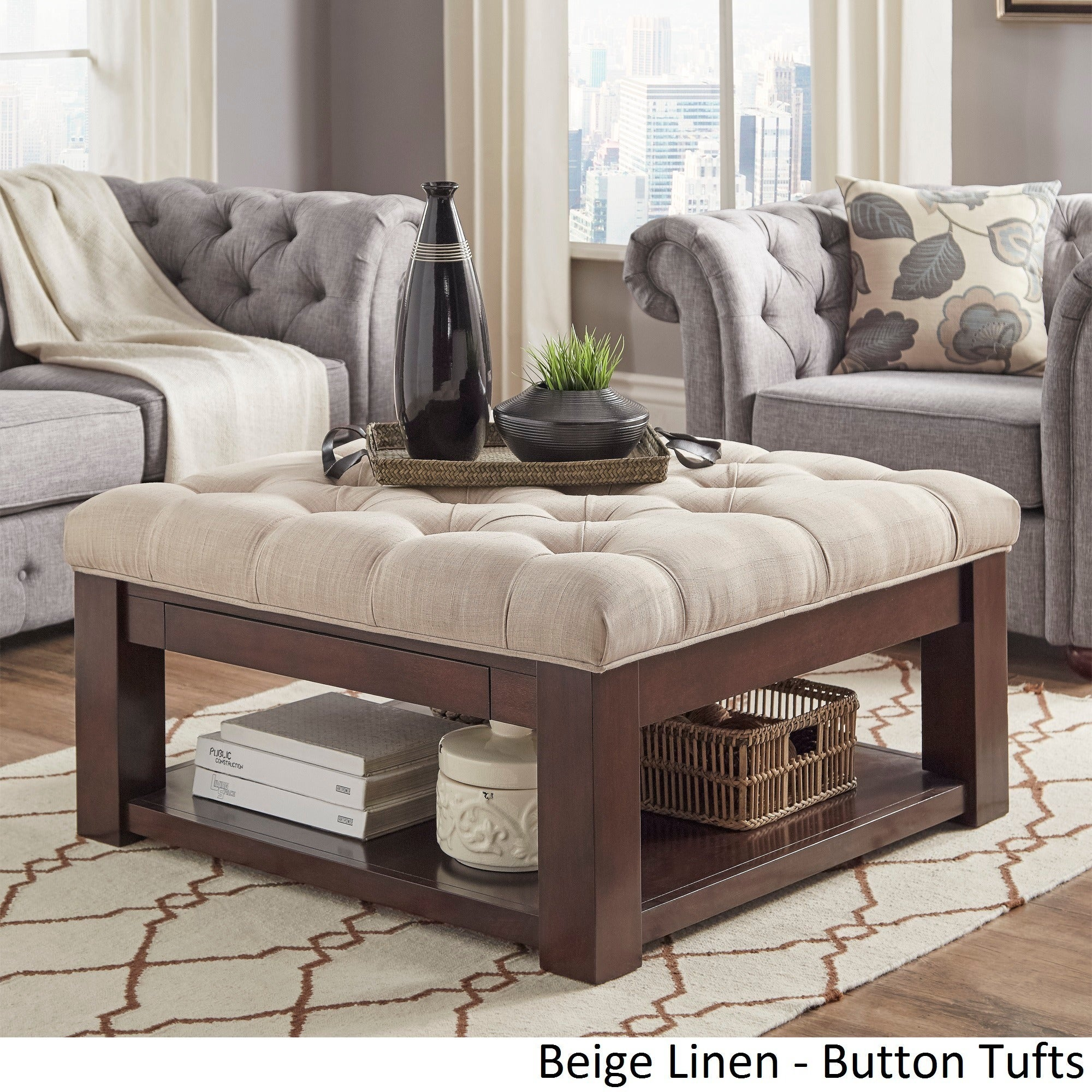 Gentil Shop Lennon Espresso Square Storage Ottoman Coffee Table By INSPIRE Q  Classic   Free Shipping Today   Overstock.com   13447191