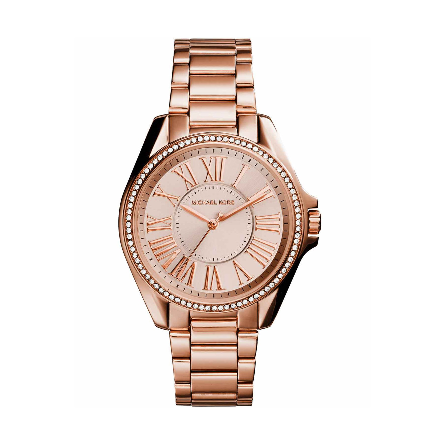 fdbbfc92454f Shop Michael Kors Women s Kacie Rose Gold Dial Rose Gold-Tone Stainless  Steel Bracelet Watch And Bracelet Set - Free Shipping Today - Overstock -  13447626