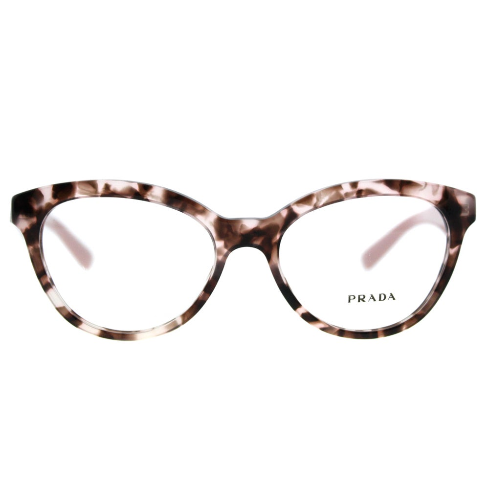 7b6e225b2d5 Shop Prada PR 11RV ROJ1O1 Triangle Pink Havana Plastic Cat-Eye 52mm  Eyeglasses - Free Shipping Today - Overstock - 13448116