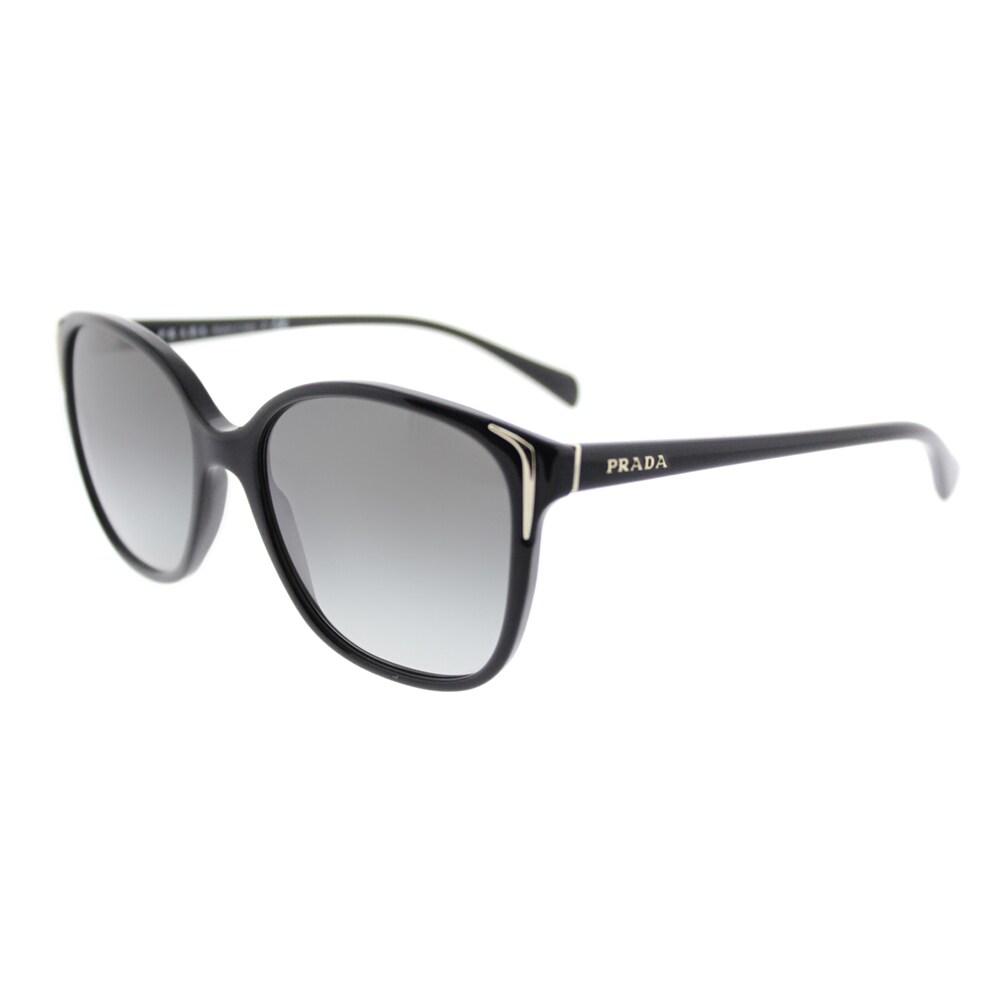 b58ac1de973 Prada PR 01OS 1AB3M1 Black Plastic Square Sunglasses Grey Gradient Lens