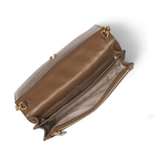 656bb2ab1dec Shop MICHAEL Michael Kors Brooklyn Grommet Large Dark Caramel Crossbody  Handbag - Free Shipping Today - Overstock - 13448333