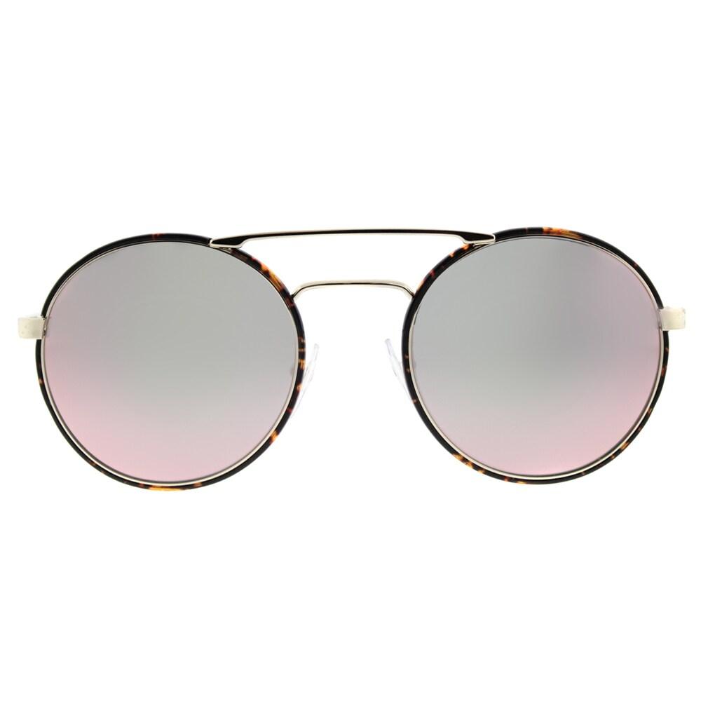 27d77dd88bdfd Shop Prada PR 51SS 2AU5L2 Pale Gold Dark Havana Metal Round Rose Gold Mirror  Lens Sunglasses - Free Shipping Today - Overstock - 13448457