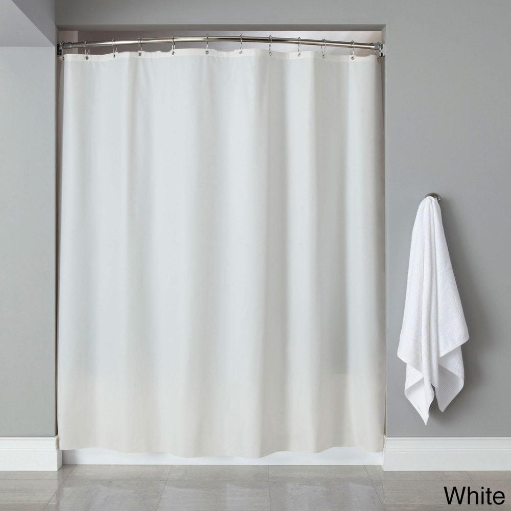 Shop Vinyl Shower Curtain Liner With 12 Piece Chrome Roller Hook Set