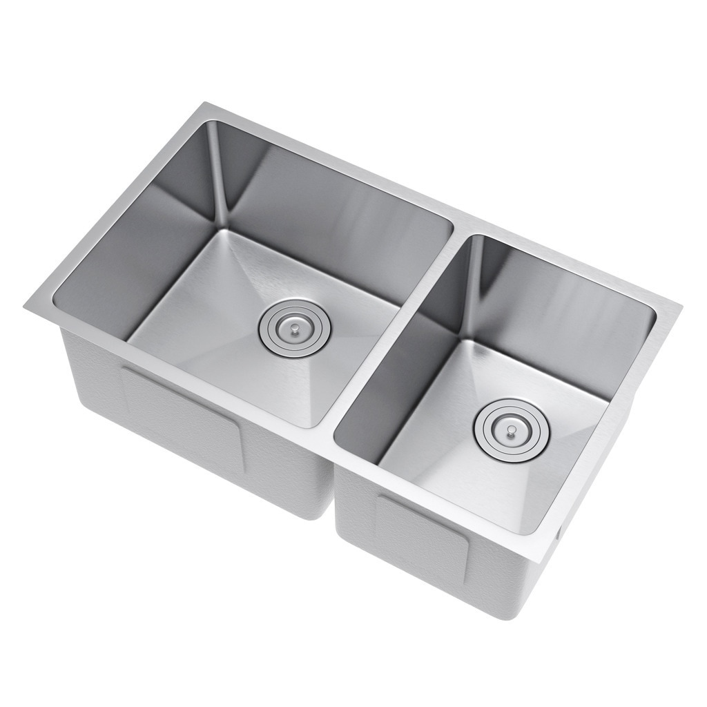 Exclusive Heritage 33 X 19 Inch Single Bowl Undermount 16 Gauge Stainless Steel Kitchen Sink