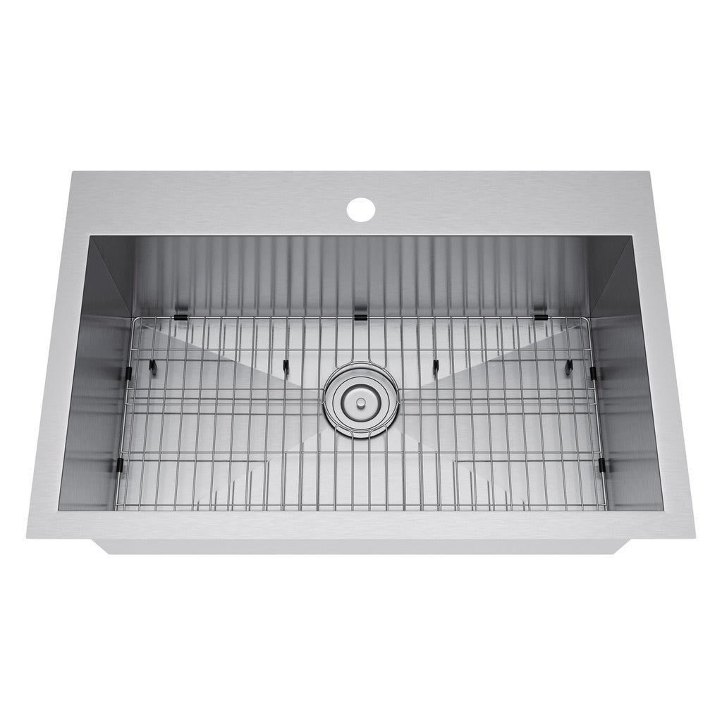 Exclusive Heritage 33 x 22-inch Single Bowl Top Mount Stainless ...