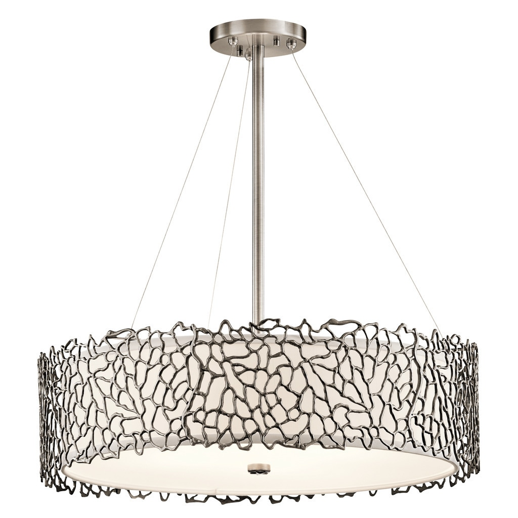 Kichler lighting silver coral collection 4 light classic pewter kichler lighting silver coral collection 4 light classic pewter chandelierpendant free shipping today overstock 20143743 aloadofball Image collections