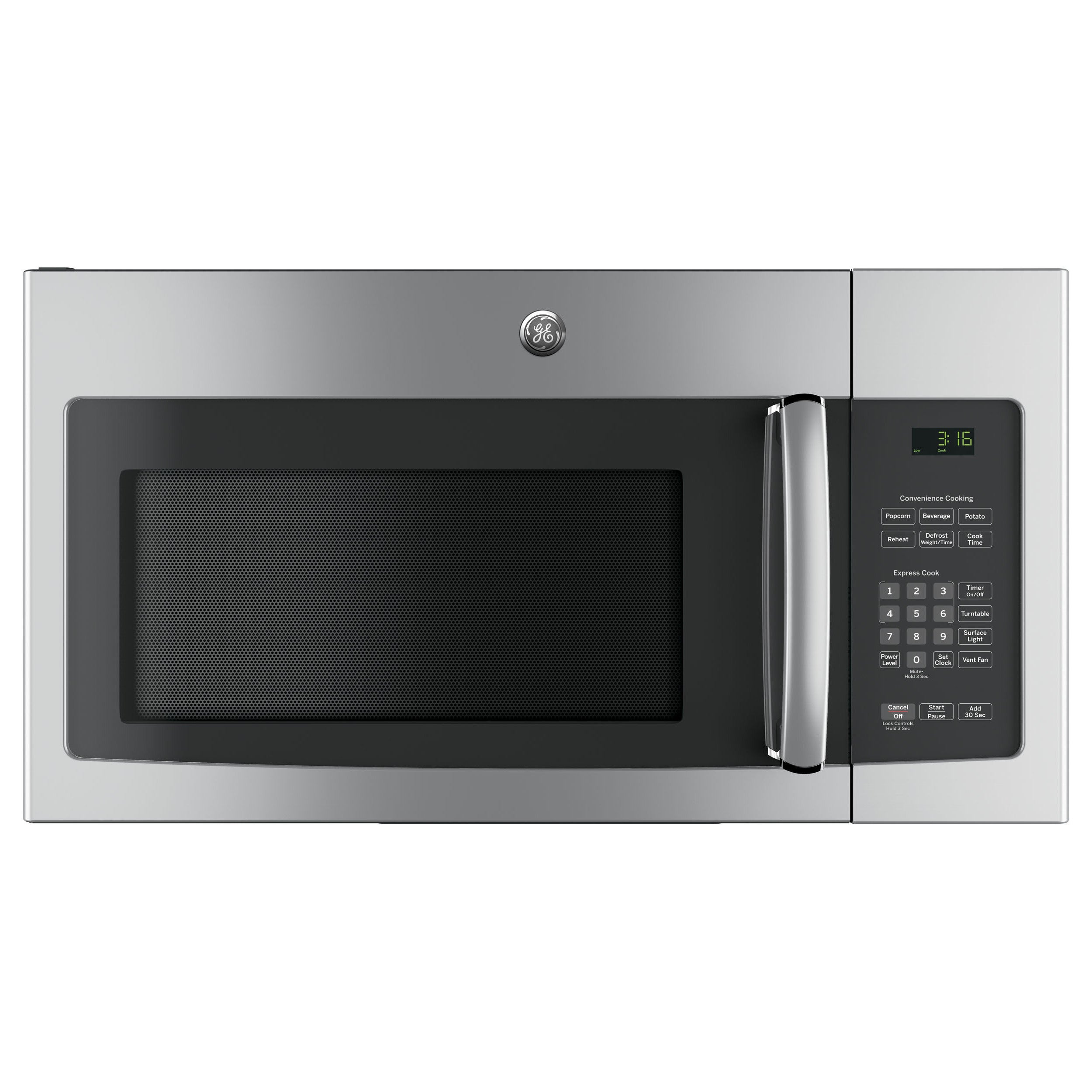 Ge 1 6 Cubic Feet Over The Range Microwave Oven With Recirculating Venting