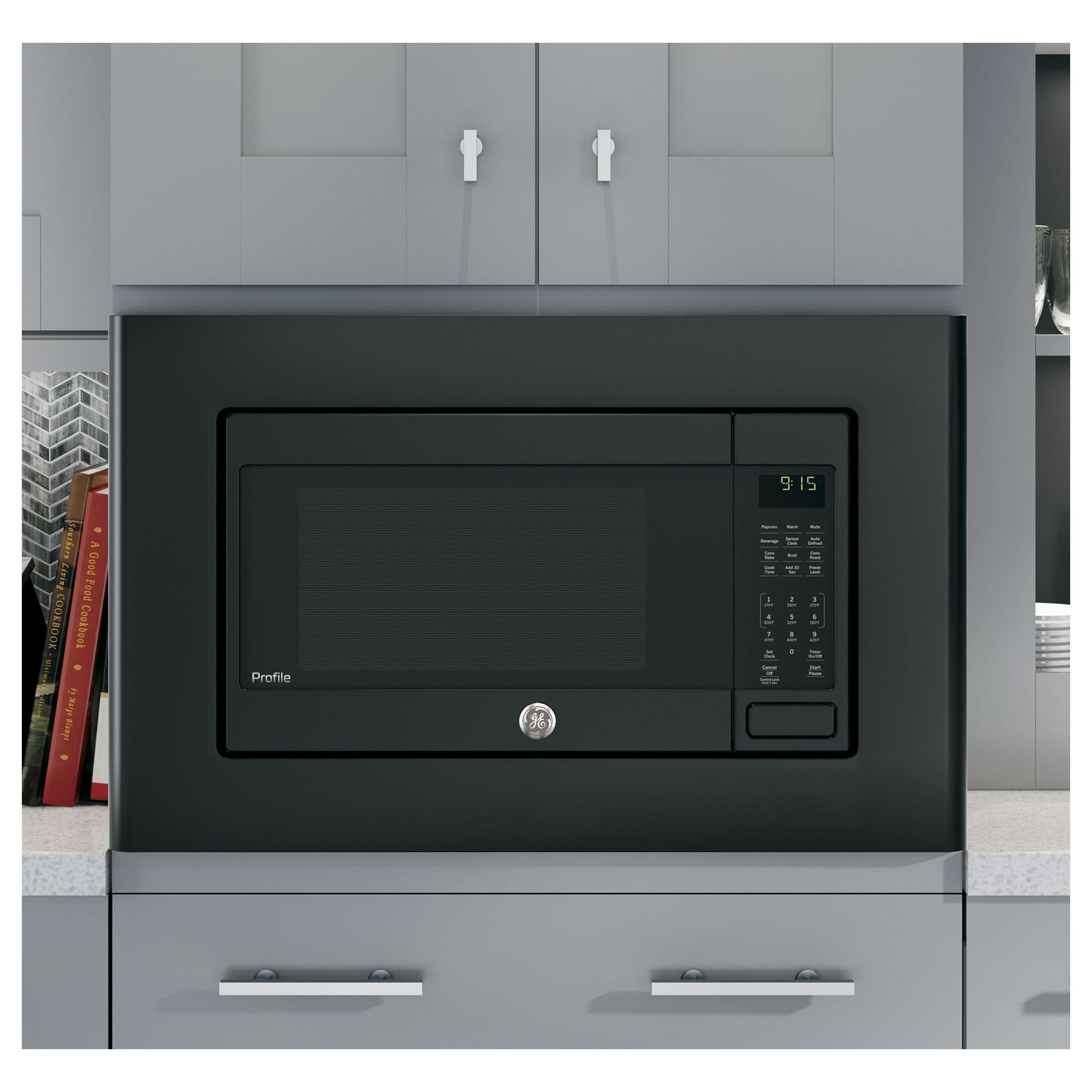 Ge Profile Series 1 5 Cubic Feet Countertop Convection Microwave Oven