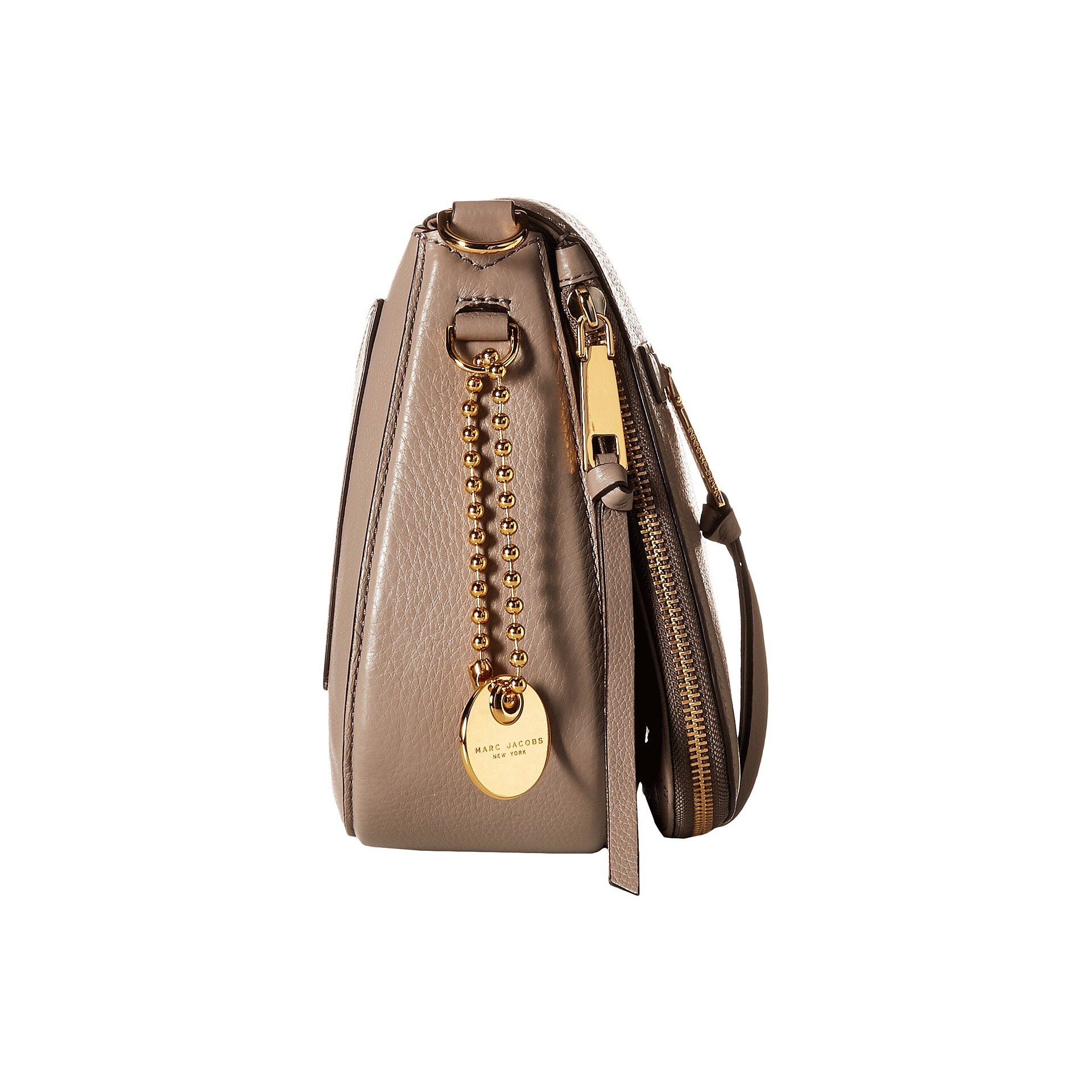 55e28820eafb Shop Marc Jacobs Women s Recruit Mink Beige Leather Saddle Handbag - Free  Shipping Today - Overstock - 13455385