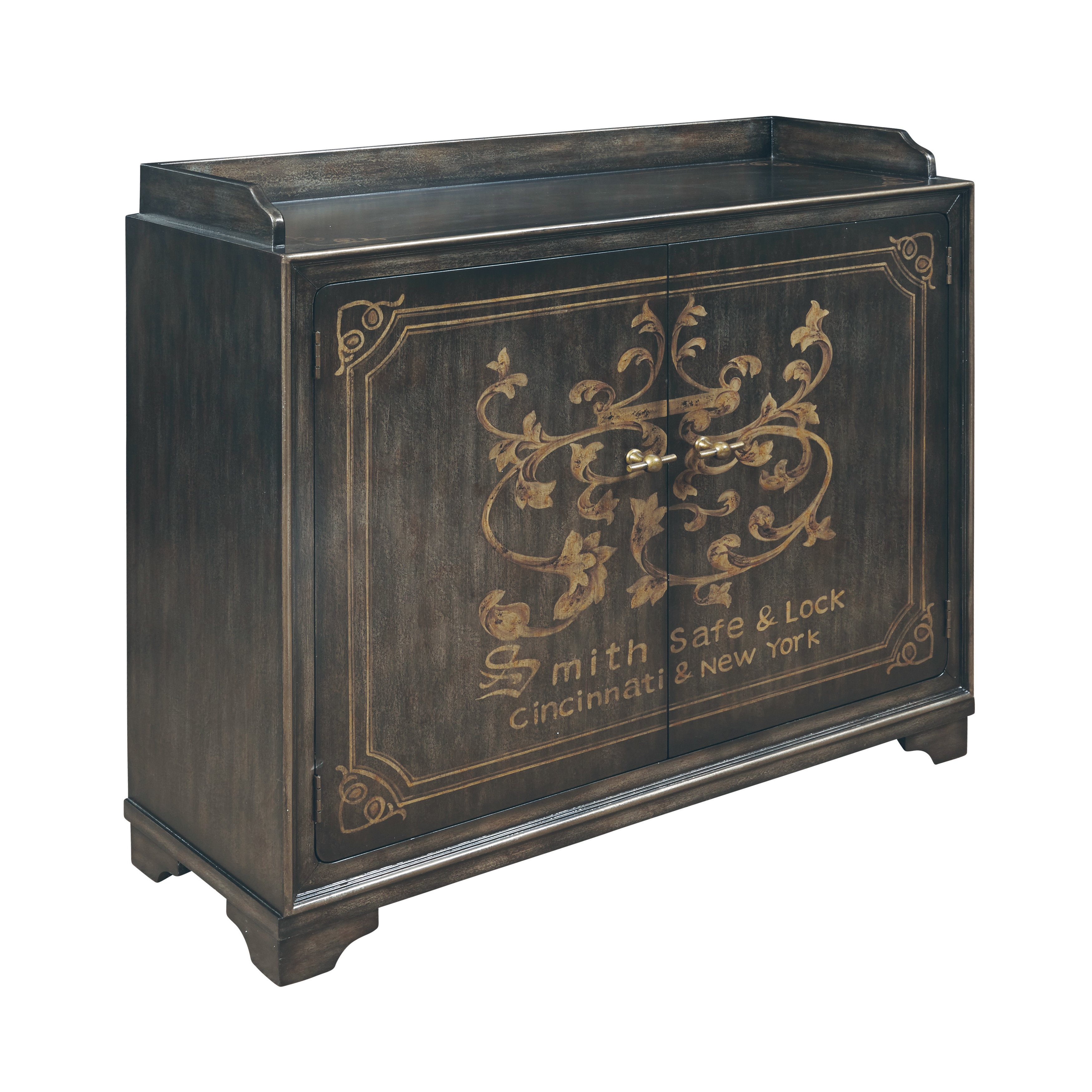 Shop Hand Painted Distressed Rustic Brown Wine Cabinet   Free Shipping  Today   Overstock.com   13455413