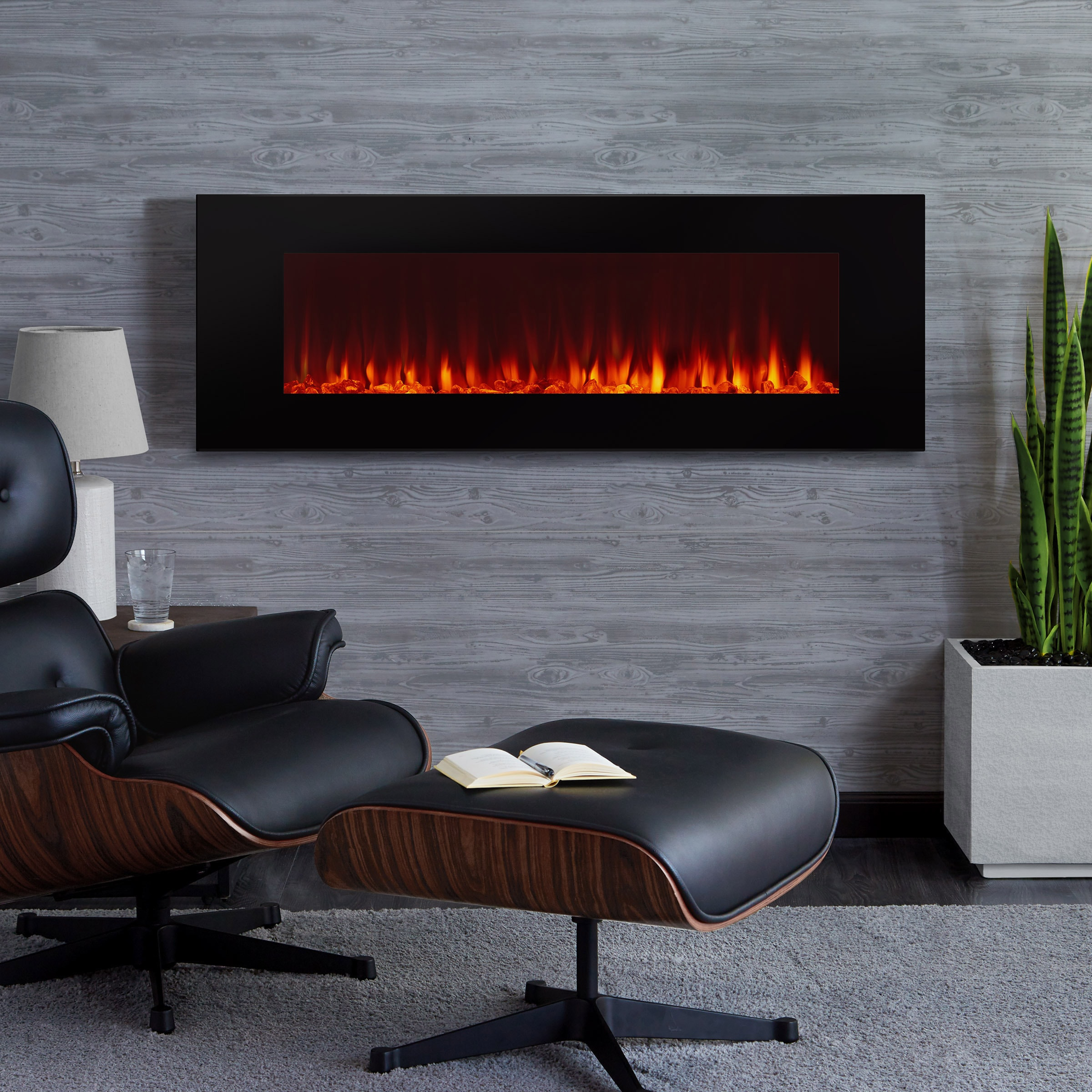 indoor chelsea products pros room large black biofuel mounted ventless wall fireplace