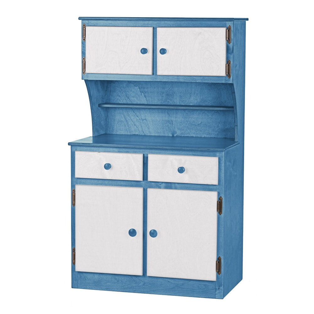 Shop Children\'s REAL WOOD Play Kitchen Hutch/Cabinet - Free Shipping ...