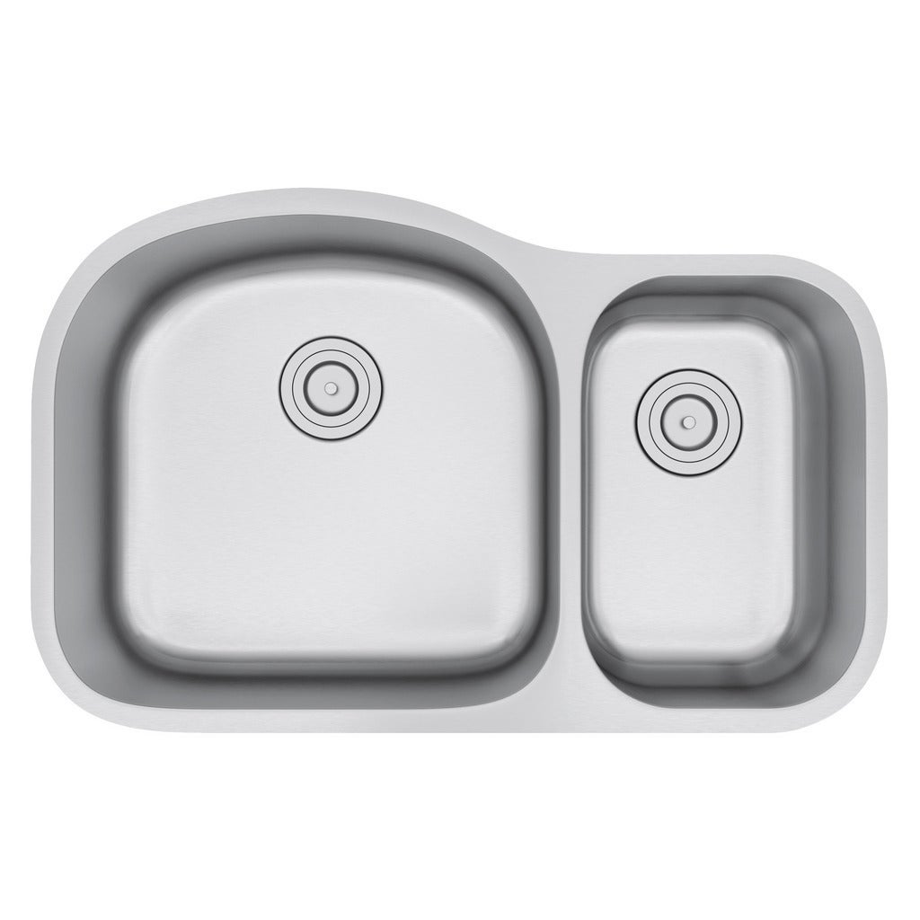 Exclusive Heritage 32 X 21 Double Bowl 70 30 Undermount Stainless Steel Kitchen Sink Free Shipping Today 13456122