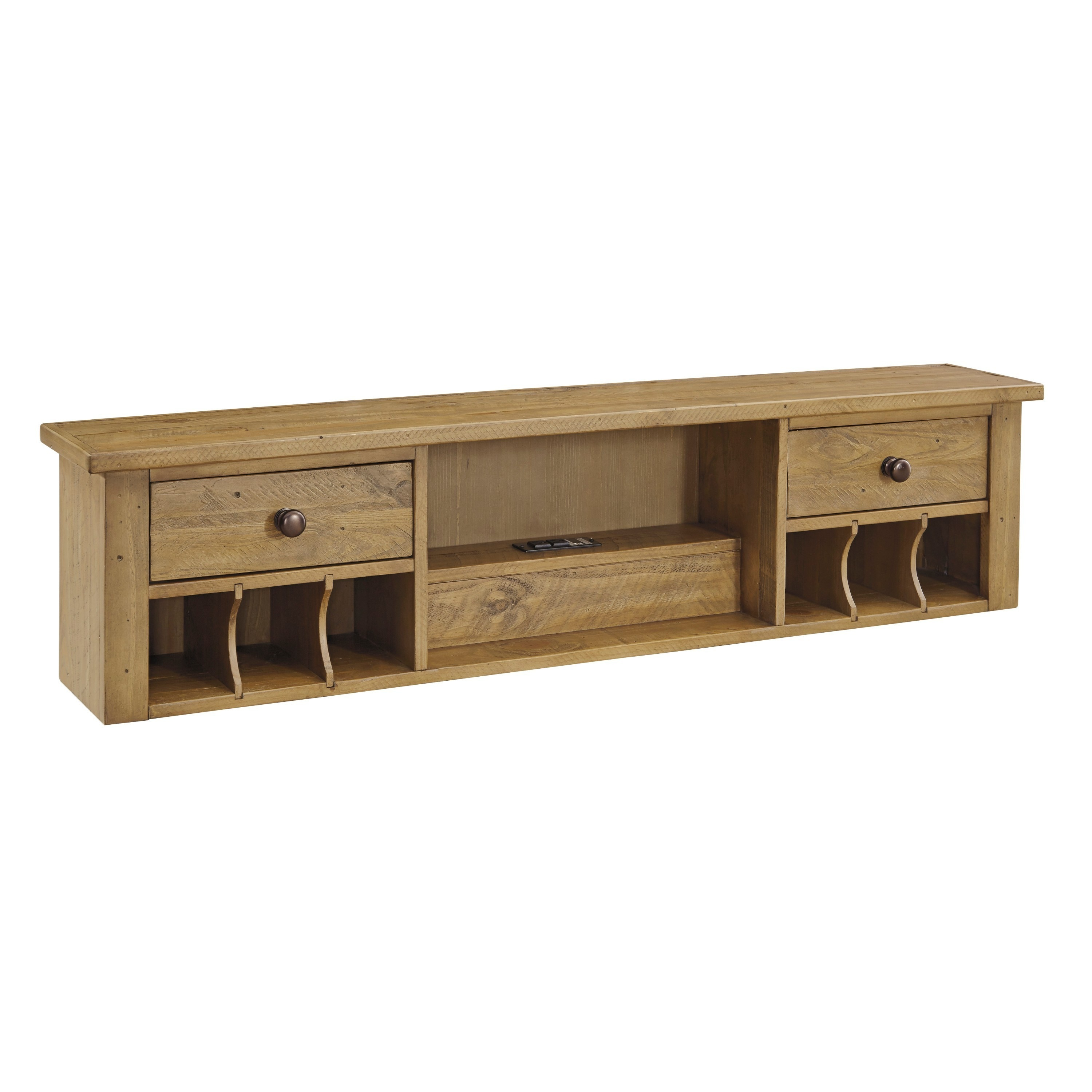 Signature Design by Ashley Trishley Light Brown Home Office Desk ...