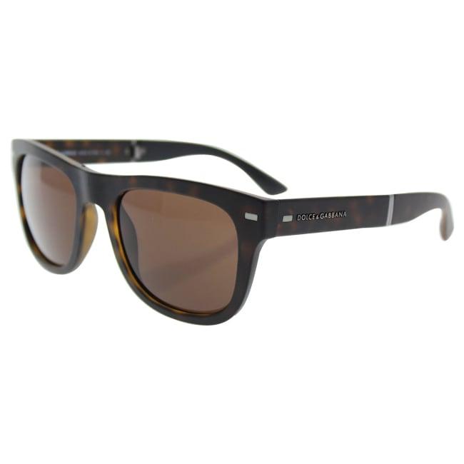 5c0da241013 Shop Dolce   Gabbana Mens DG6089 FOLDING 502 73 Havana Plastic Square  Sunglasses - Brown - Free Shipping Today - Overstock - 13466904