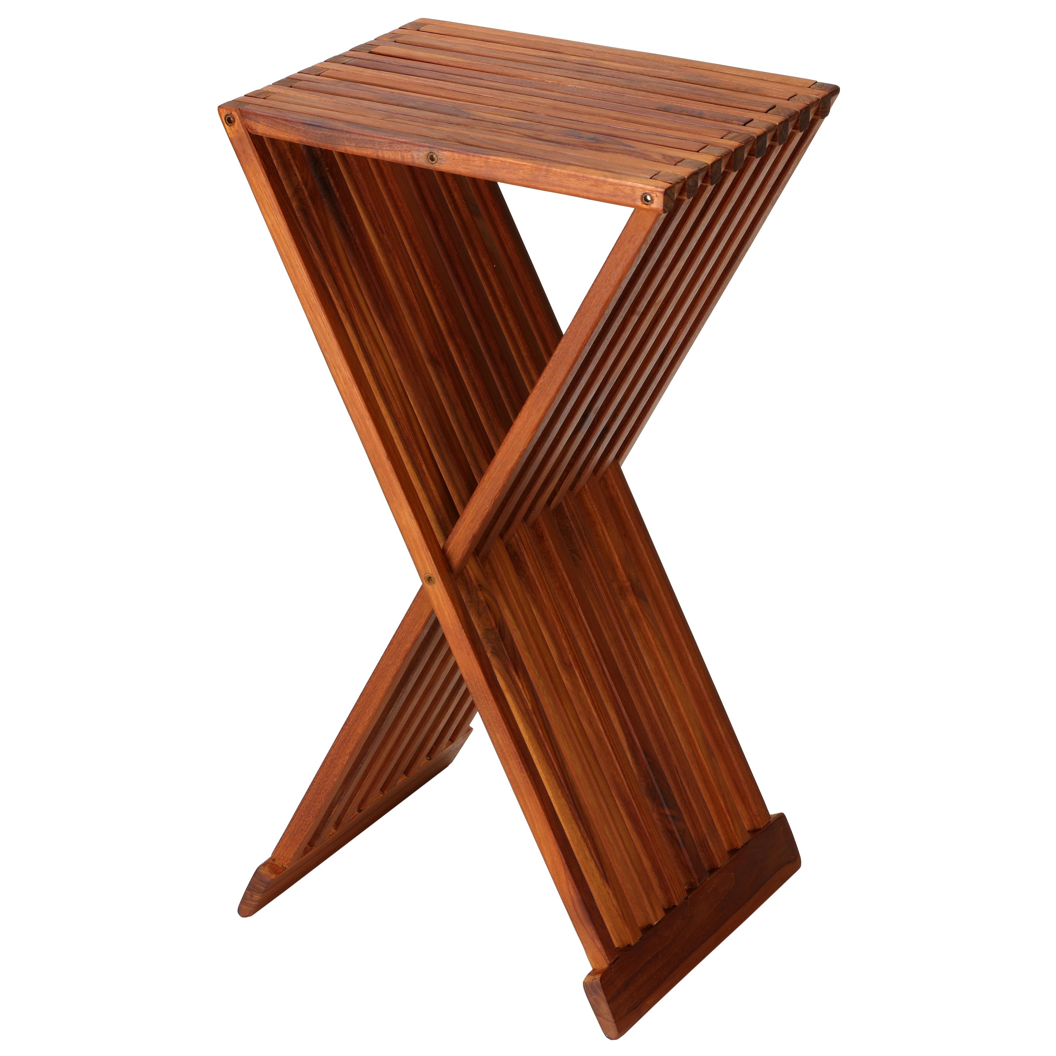 Bare Decor Taj Teak Folding End Table