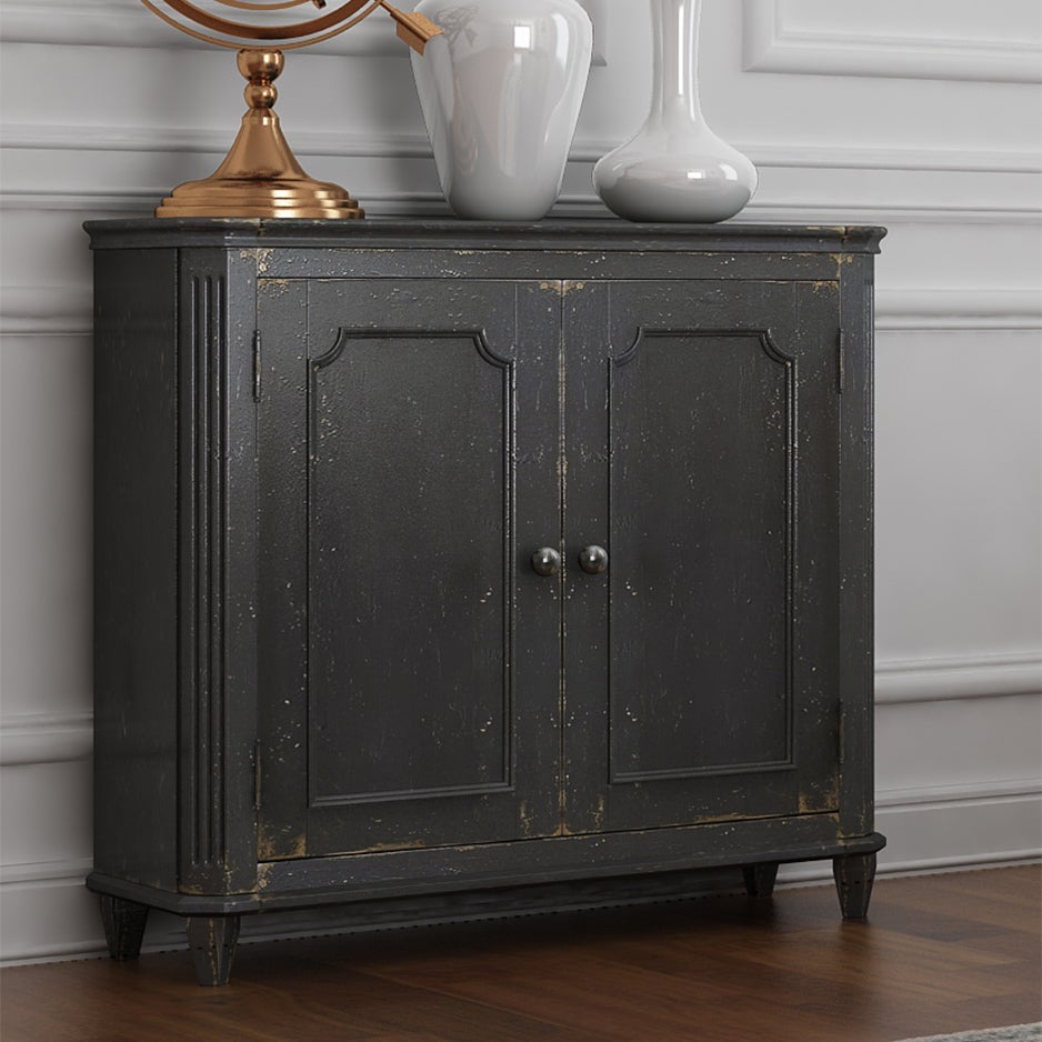 Shop Signature Design by Ashley Mirimyn Antique Black Accent Cabinet - Free  Shipping Today - Overstock.com - 13467166 - Shop Signature Design By Ashley Mirimyn Antique Black Accent Cabinet