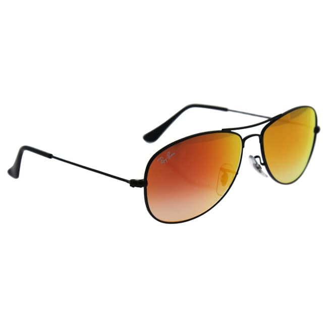119d7d3e78 Shop Ray Ban Mens RB3362 COCKPIT 002 4W Black Metal Cateye Sunglasses -  Free Shipping Today - Overstock.com - 13467298
