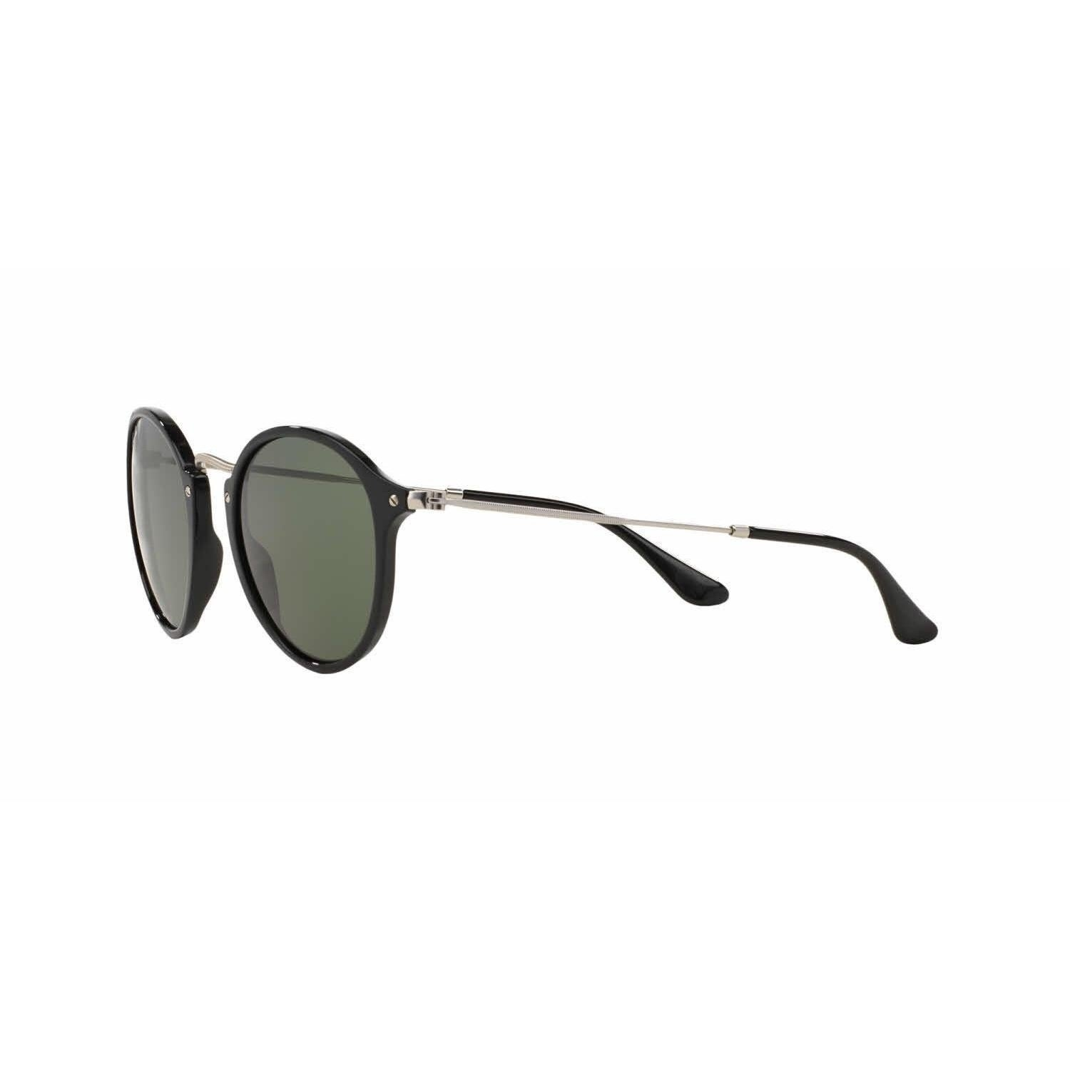 f1c501a4bb Shop Ray-Ban Round Fleck RB2447 901 58 Unisex Black Silver Frame Polarized  Green Lens Sunglasses - Free Shipping Today - Overstock - 13467362